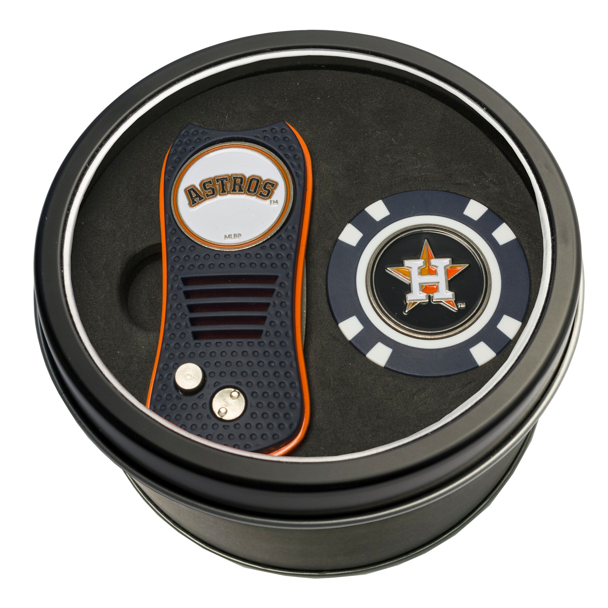 Houston Astros Switch Chip Golf Tin Set
