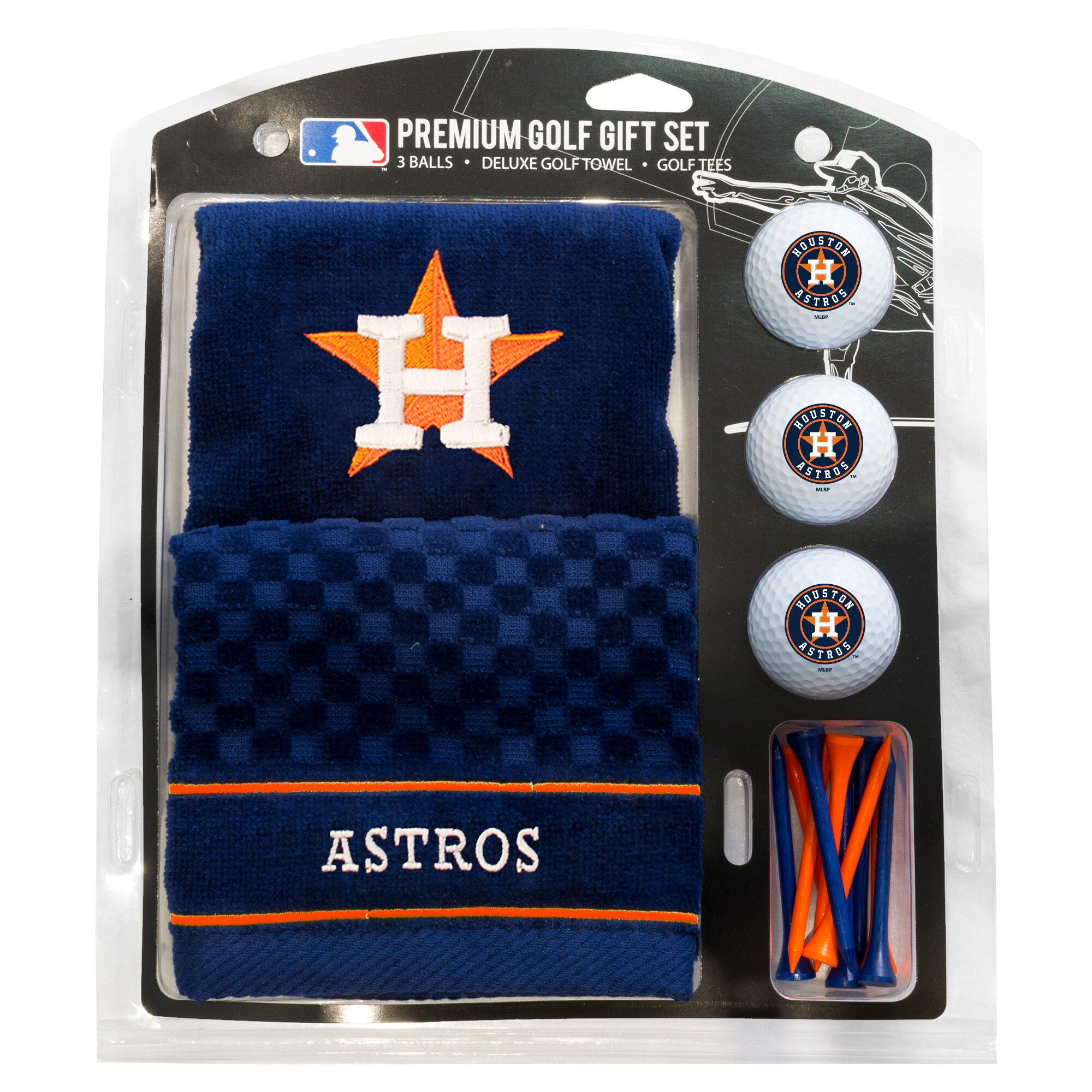 Houston Astros Embroidered Golf Gift Set