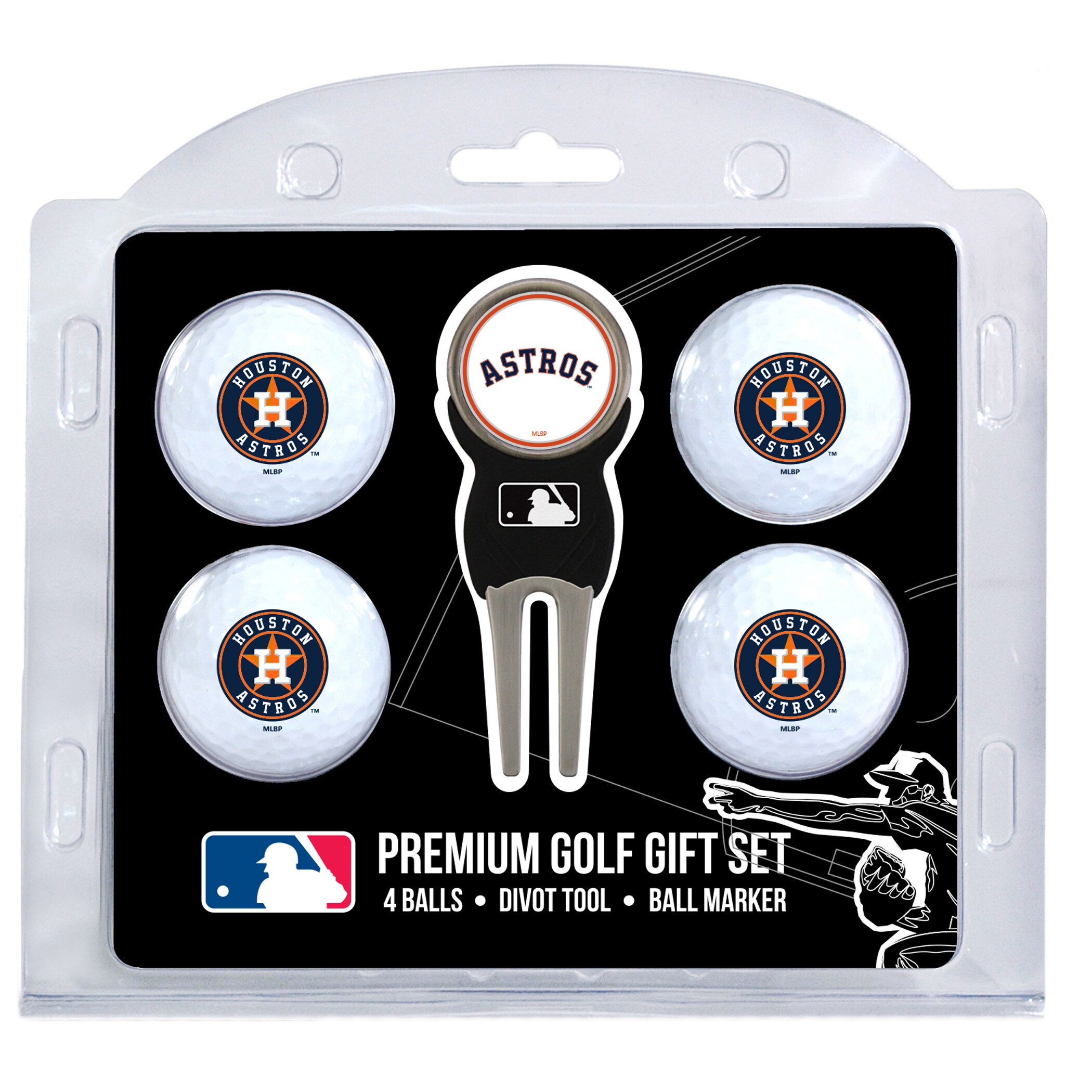 Houston Astros 4-Ball Gift Set