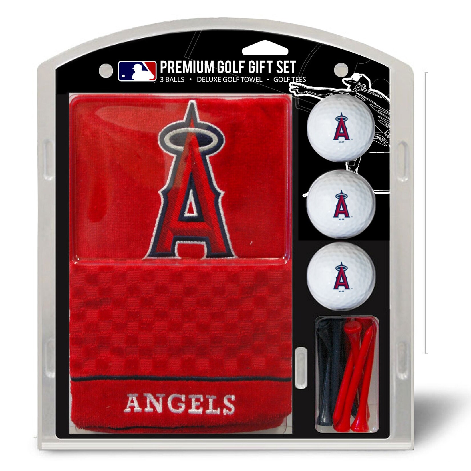 Los Angeles Angels Embroidered Golf Gift Set