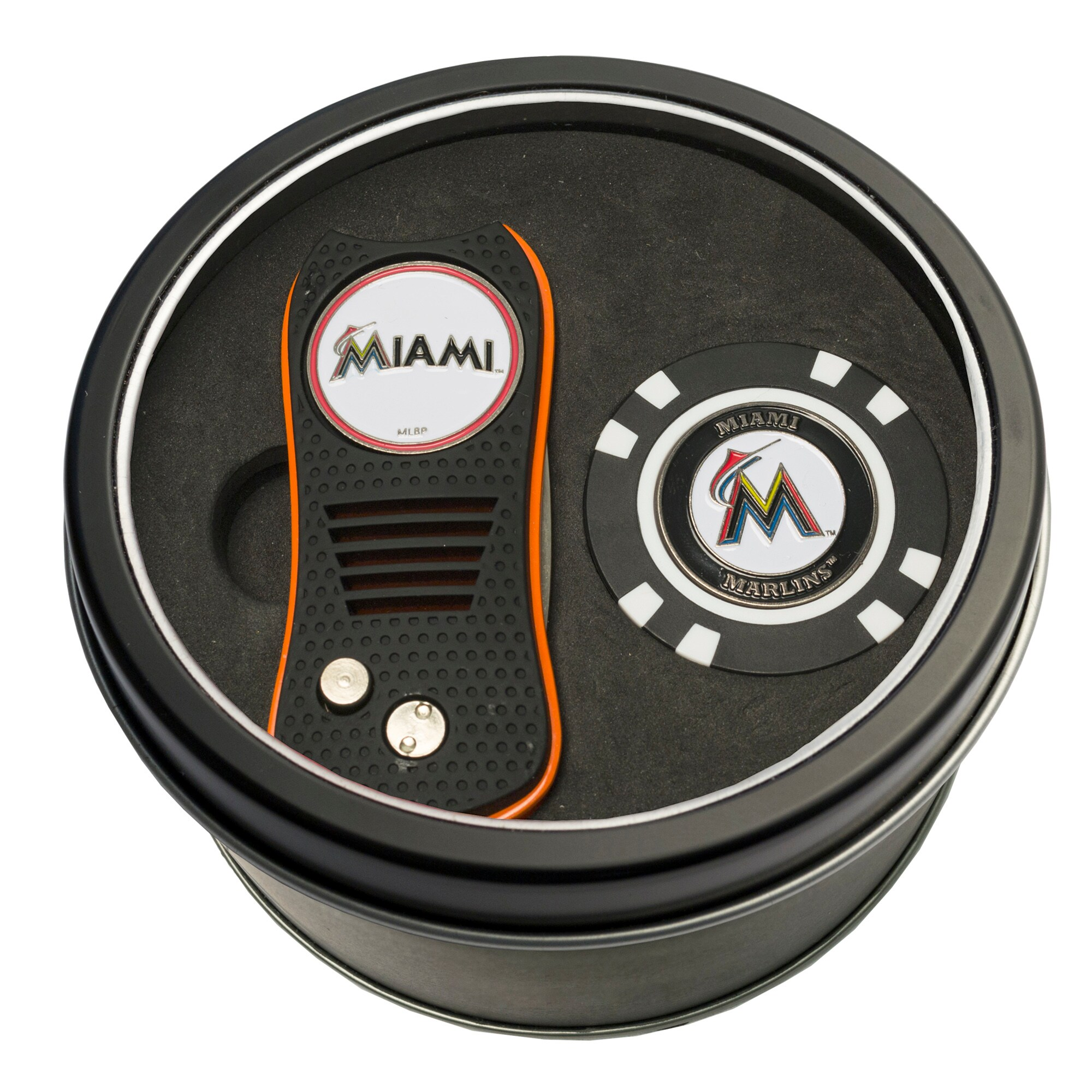 Miami Marlins Switch Chip Golf Tin Set