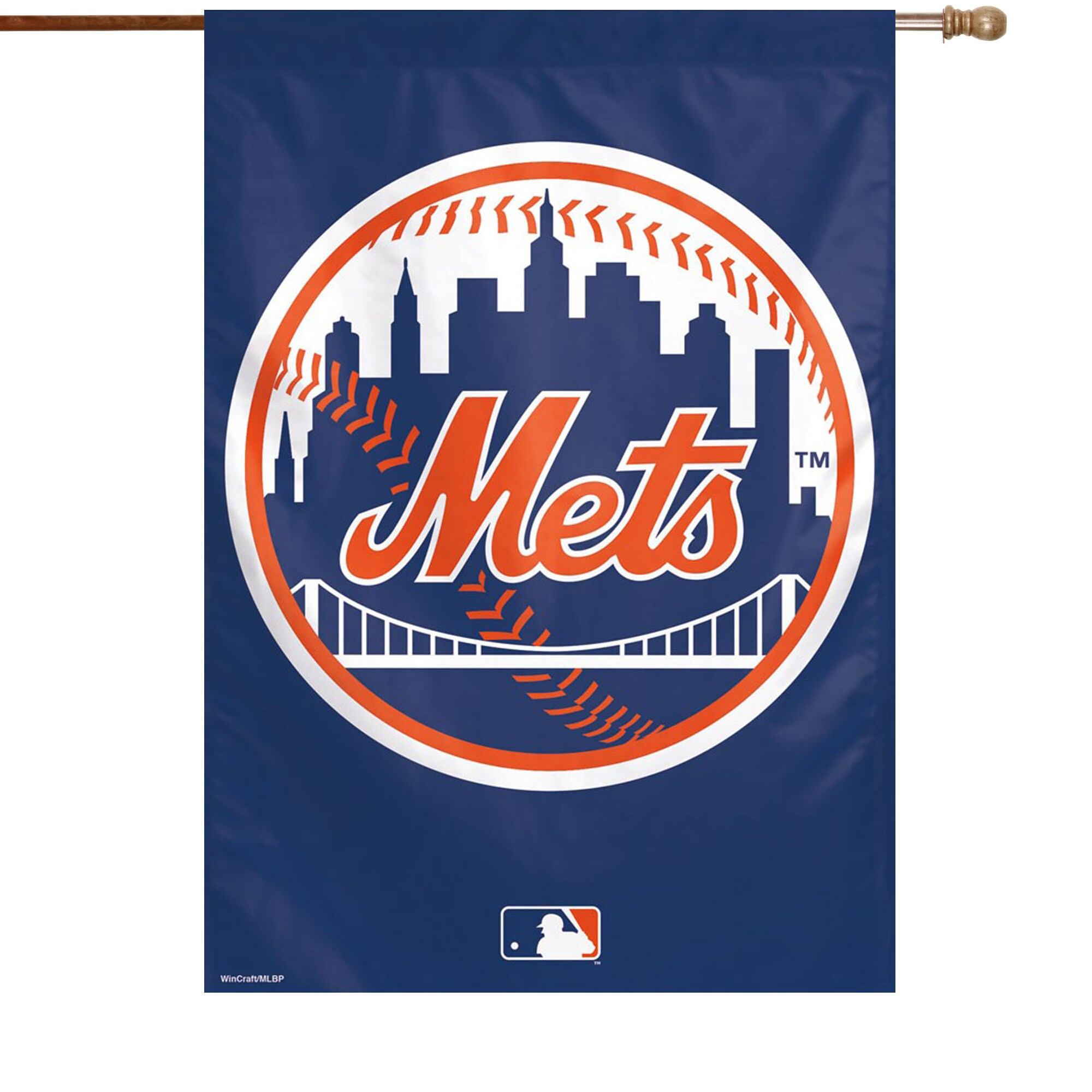 """New York Mets WinCraft 28"""" x 40"""" Circle Logo Single-Sided Vertical Banner"""