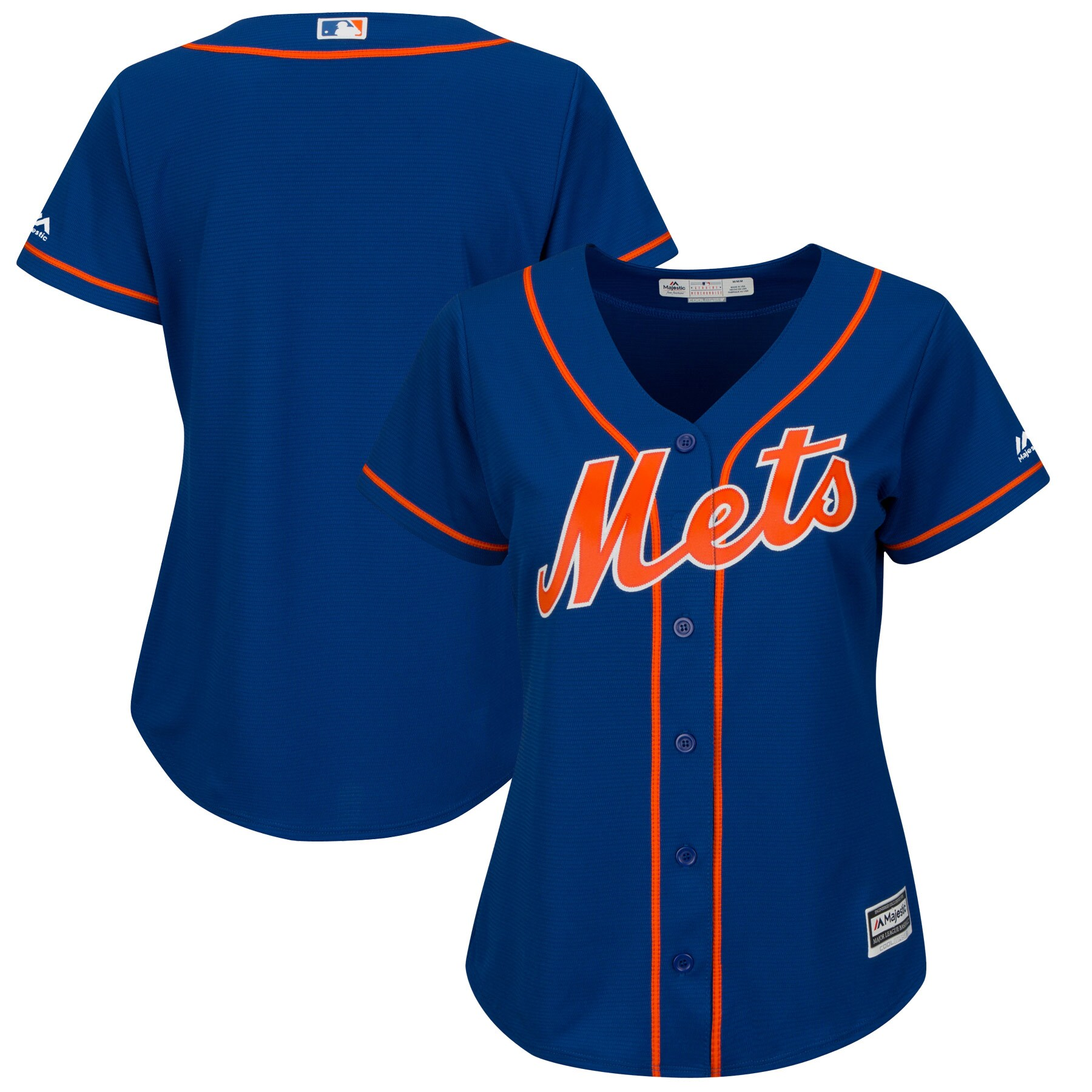 New York Mets Majestic Women's Alternate Plus Size Cool Base Team Jersey - Royal