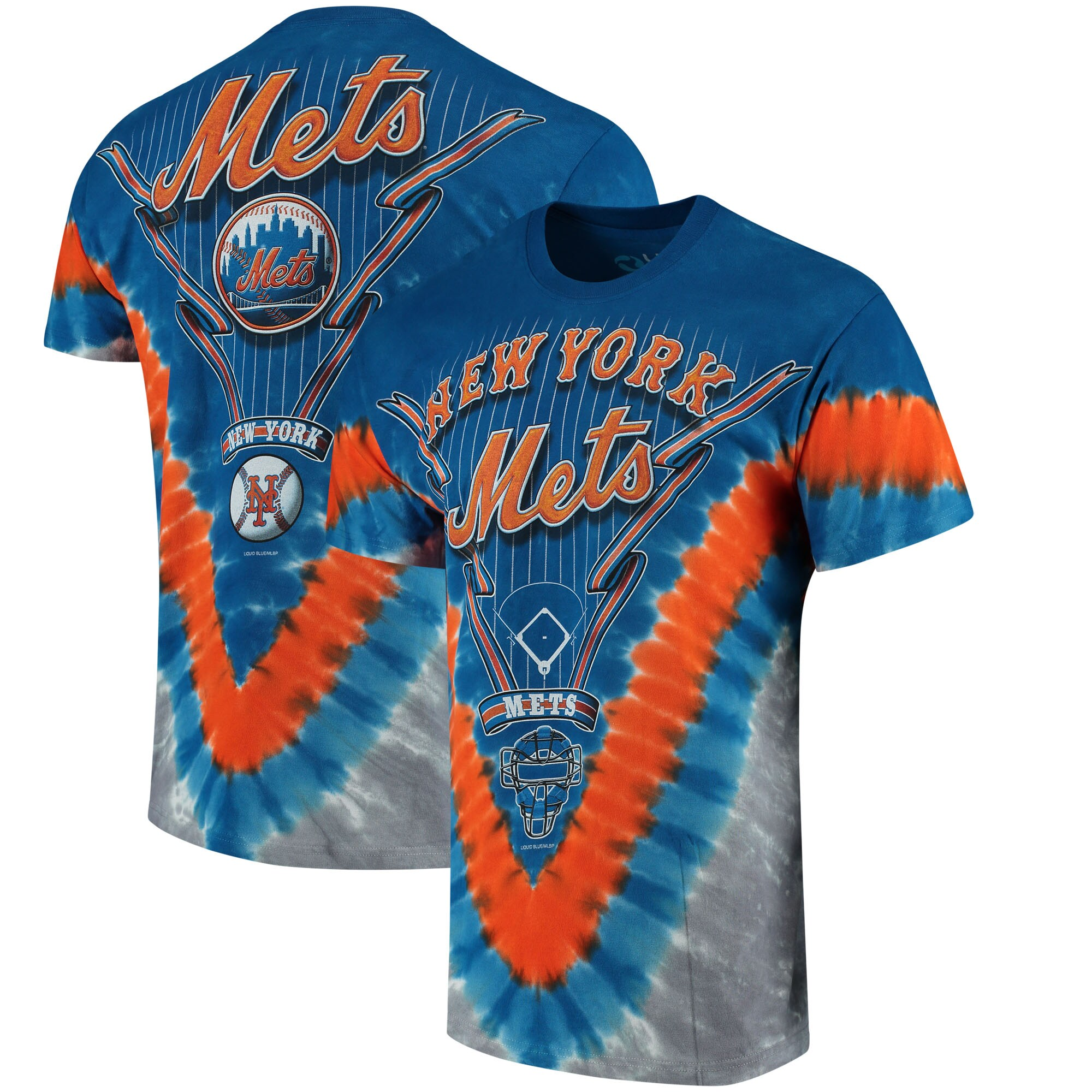 New York Mets Tie-Dye T-Shirt - Royal Blue