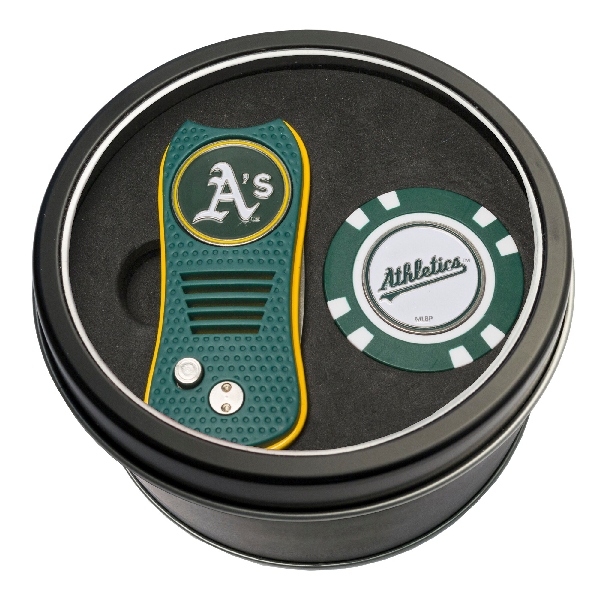Oakland Athletics Switch Chip Golf Tin Set