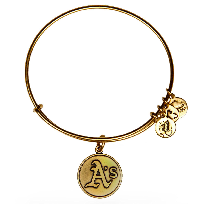 Oakland Athletics Alex and Ani Women's Bracelet - Gold