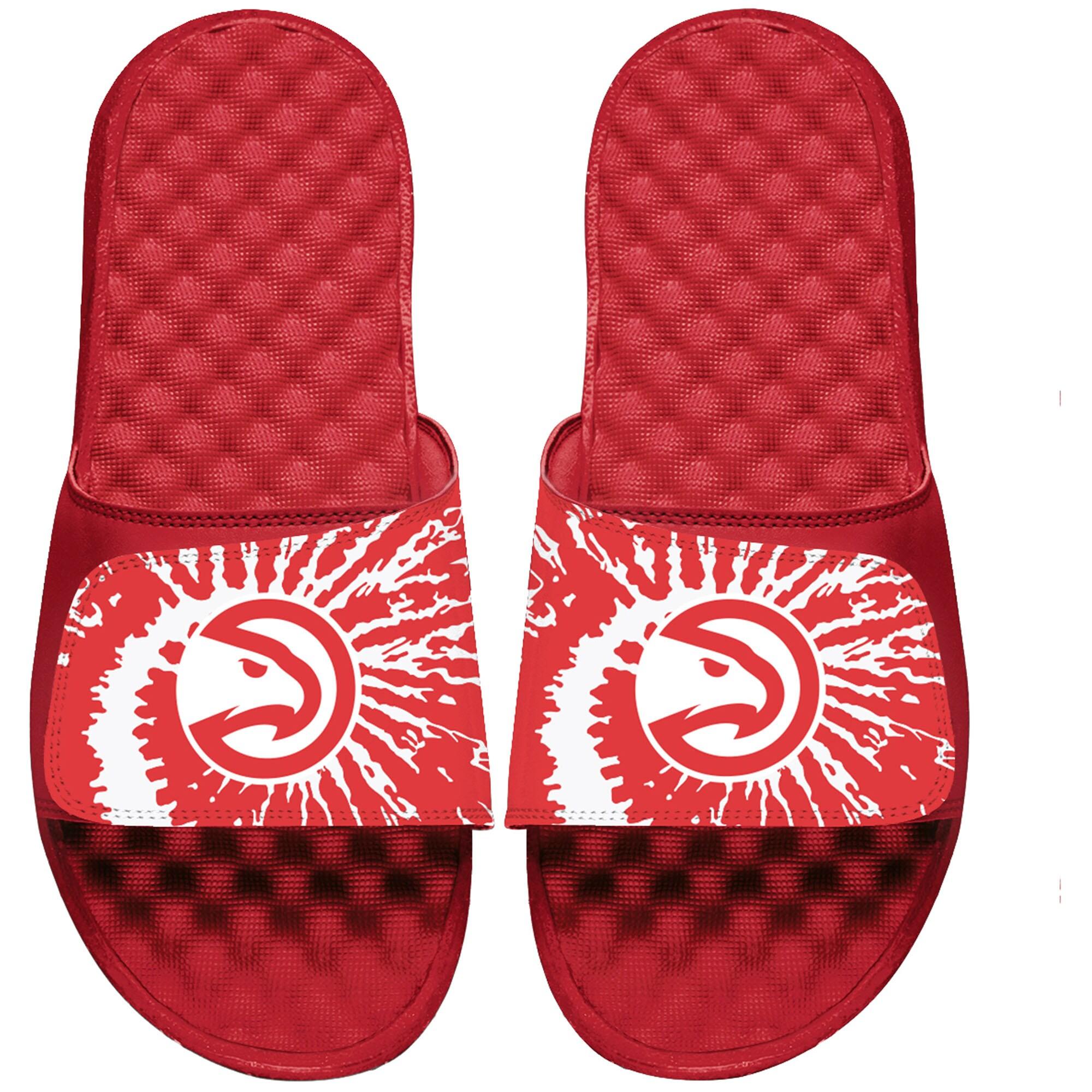 Atlanta Hawks ISlide Youth Tie Dye Slide Sandals - Red