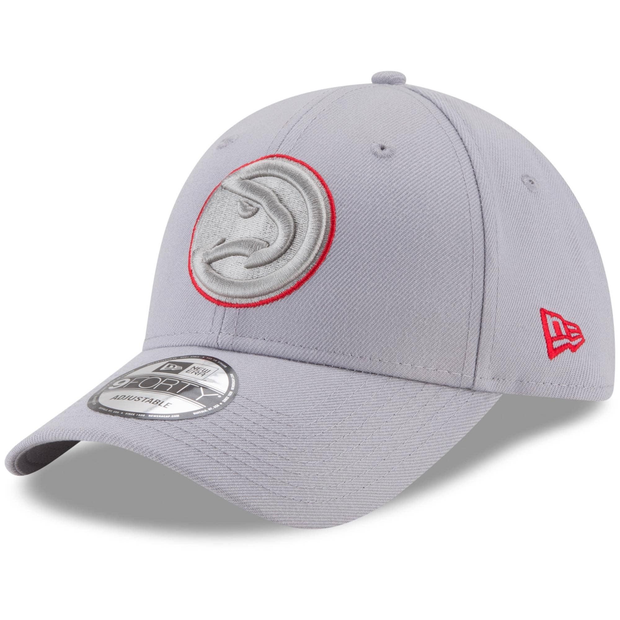 Atlanta Hawks New Era 9FORTY Adjustable Hat - Gray