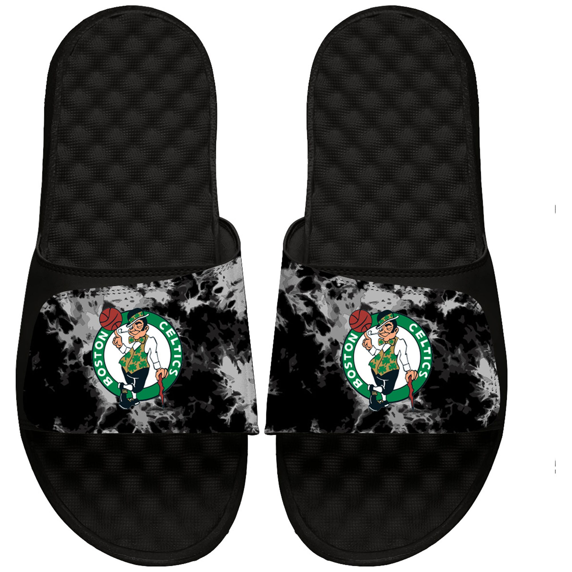 Boston Celtics ISlide Acid Wash Slide Sandals - Black
