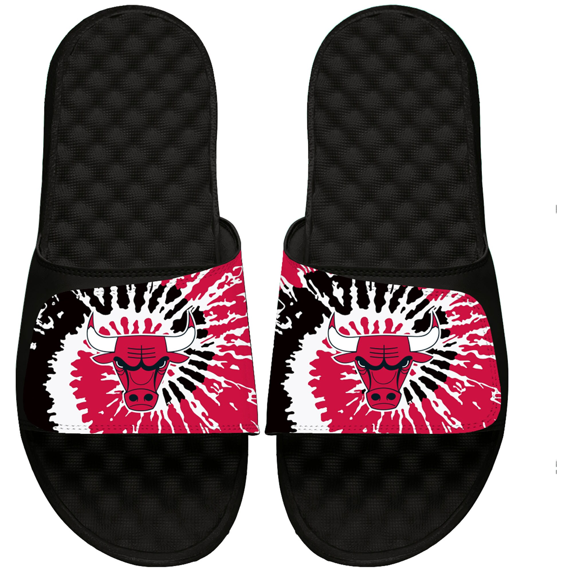 Chicago Bulls ISlide Tie Dye Slide Sandals - Black