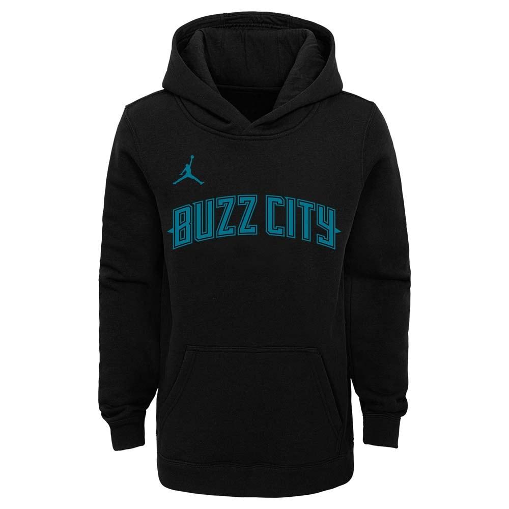 Charlotte Hornets Jordan Brand Youth 2018/19 City Edition Essential Pullover Hoodie - Black