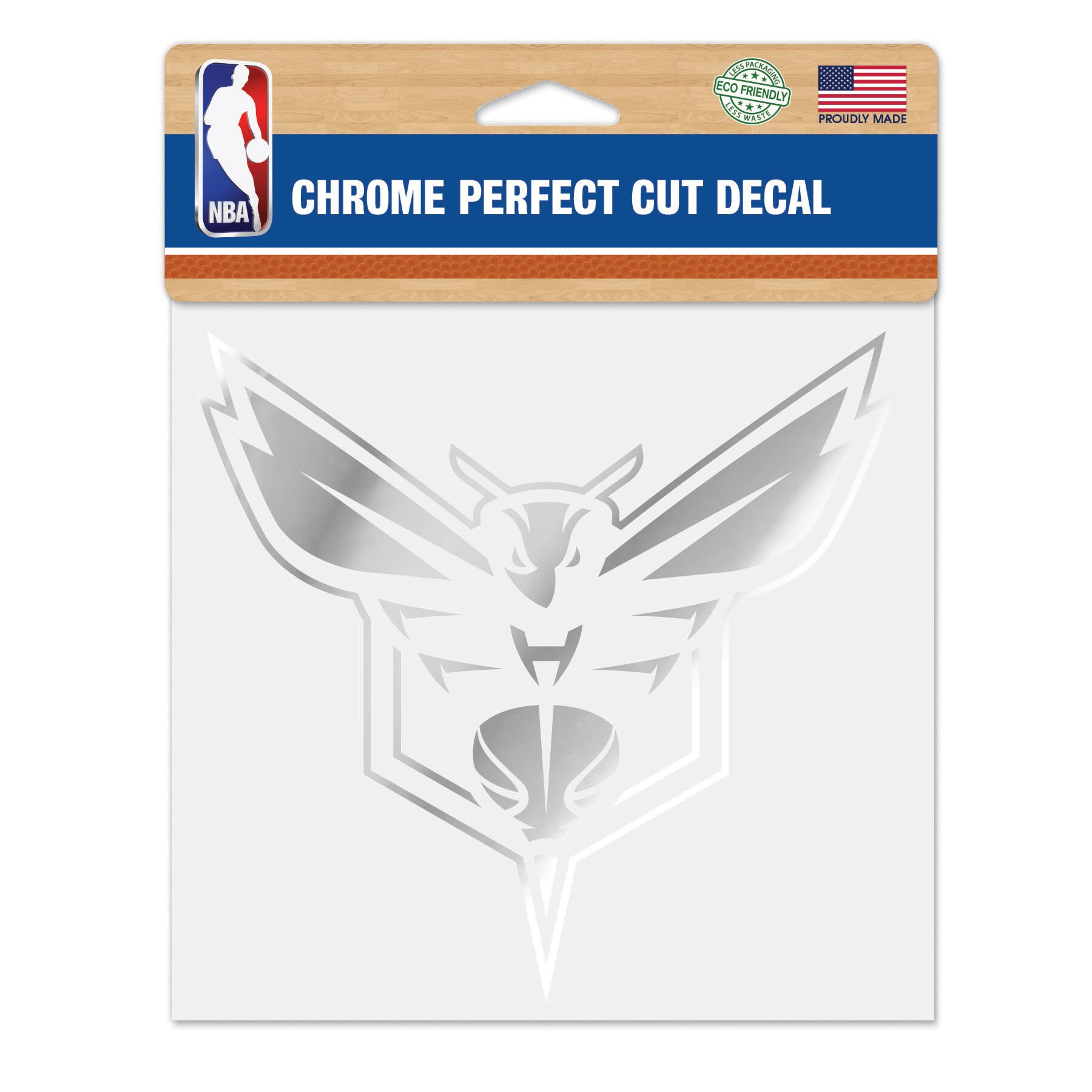 """Charlotte Hornets WinCraft 6"""" x 6"""" Chrome Decal"""