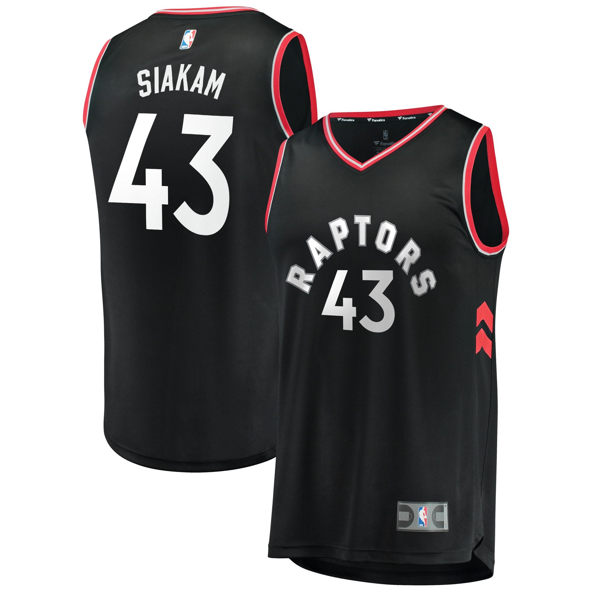 Pascal Siakam Toronto Raptors Fanatics Branded Youth Fast Break Jersey - Statement Edition - Black