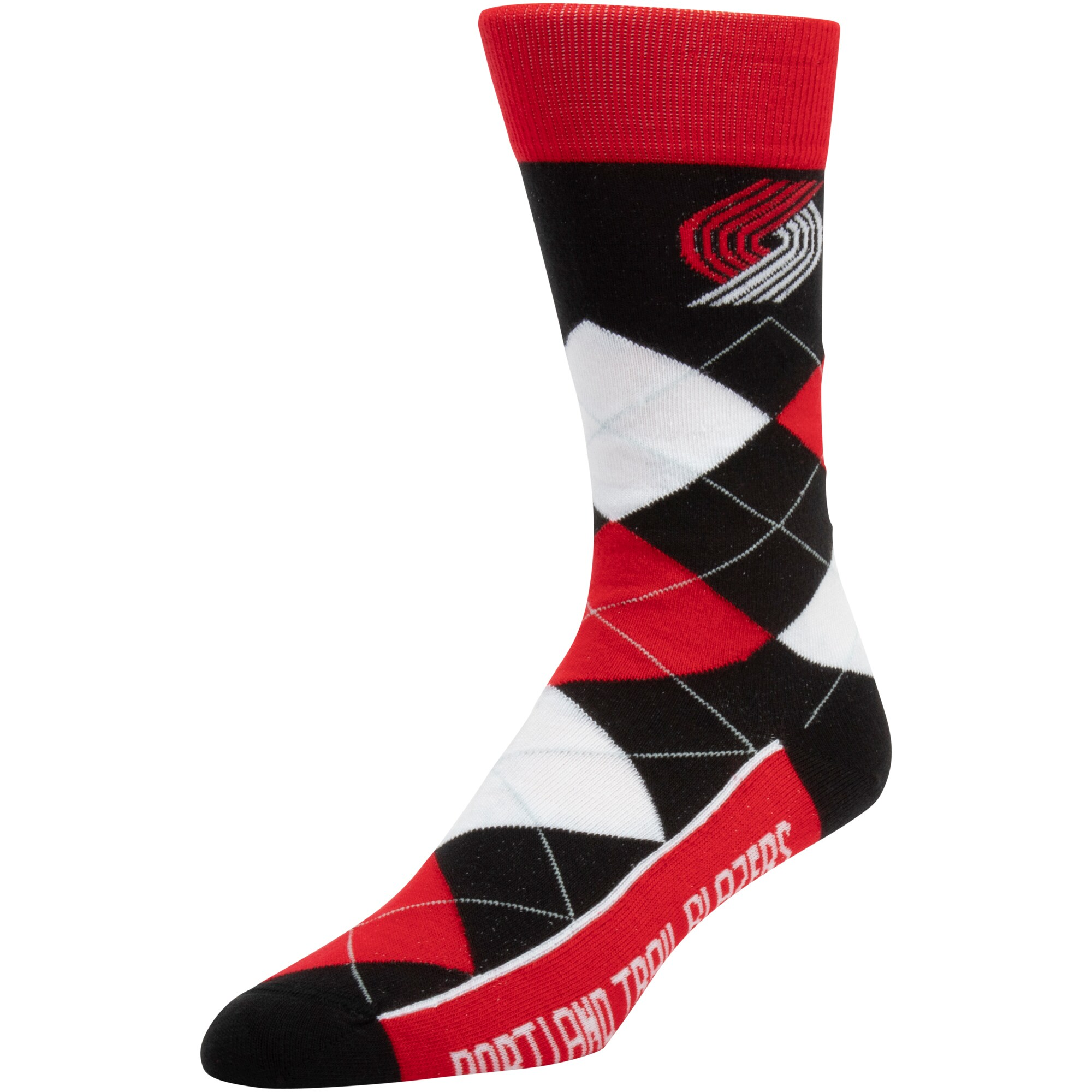 Portland Trail Blazers For Bare Feet New Argyle Socks - Red