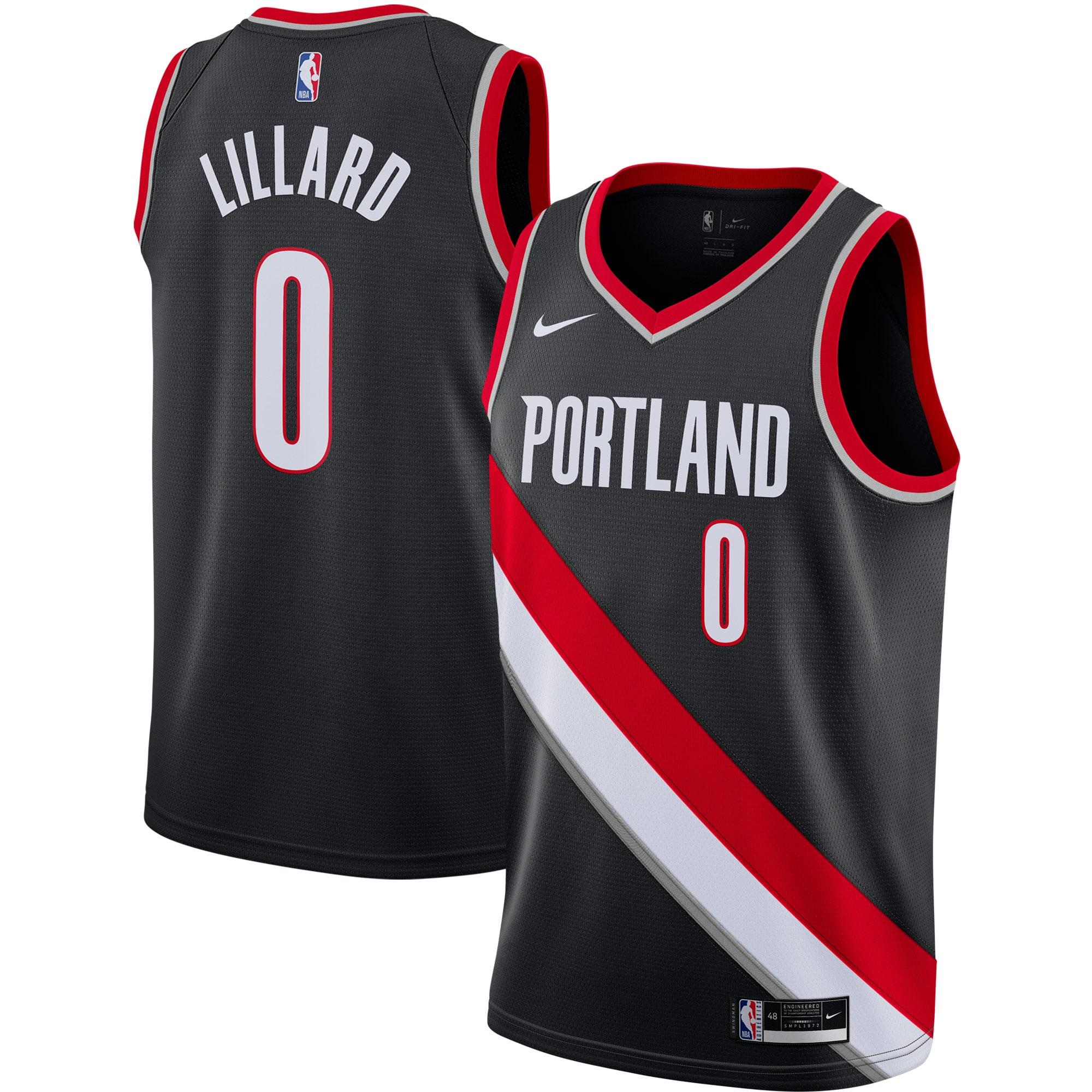 Damian Lillard Portland Trail Blazers Nike 2020/21 Swingman Jersey Black - Icon Edition
