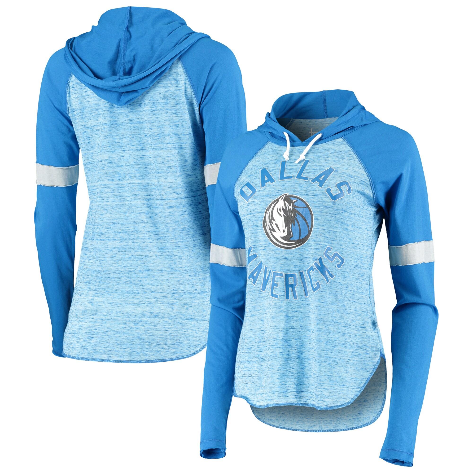 Dallas Mavericks Touch Women's Season Opener Raglan Hoodie Long Sleeve T-Shirt - Blue
