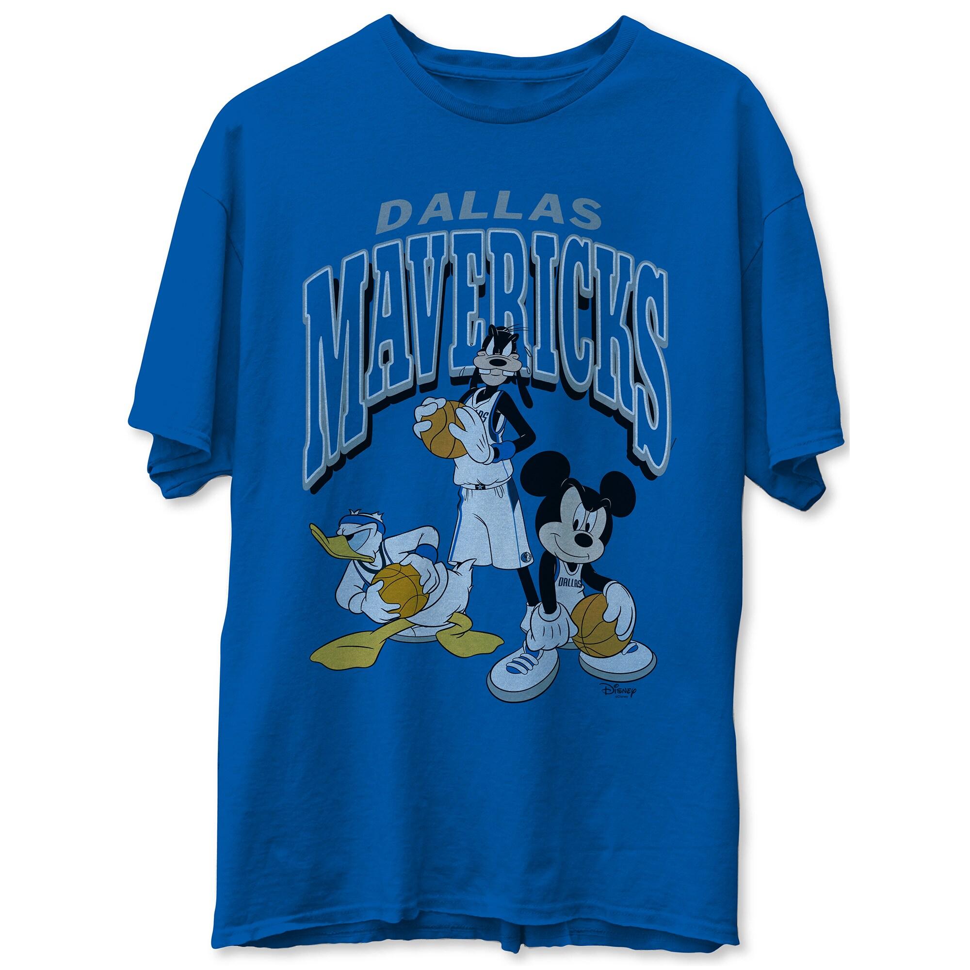 Dallas Mavericks Junk Food Disney Mickey Squad T-Shirt - Royal