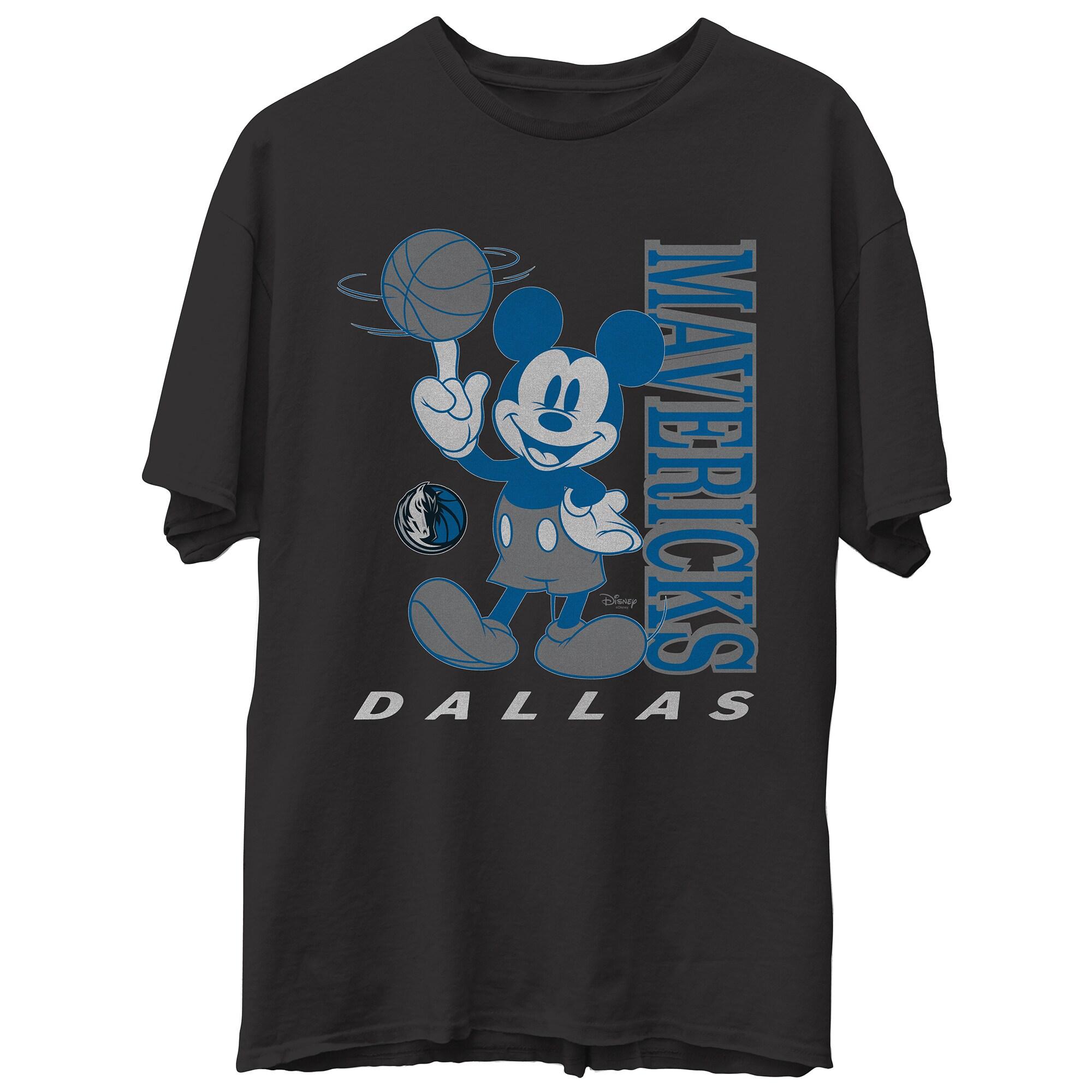 Dallas Mavericks Junk Food Disney Vintage Mickey Baller T-Shirt - Black