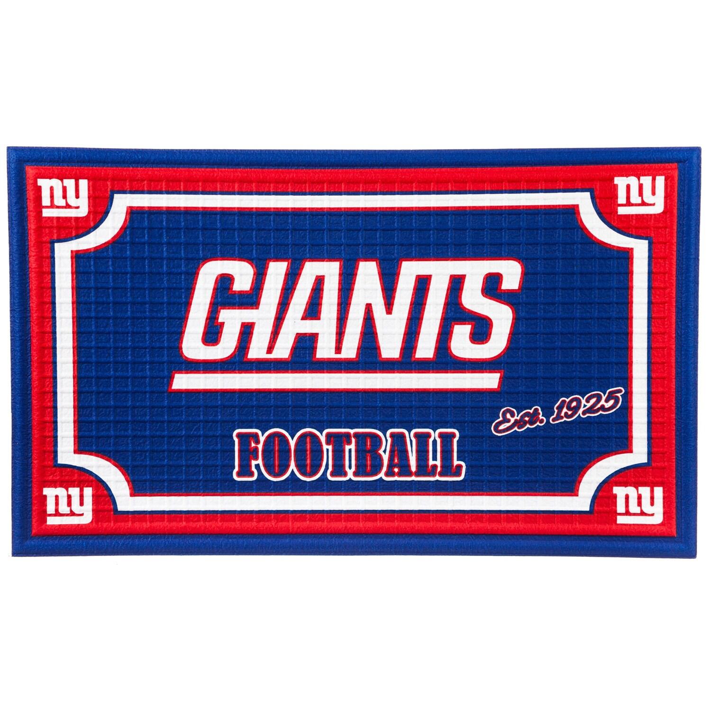 New York Giants Embossed Door Mat