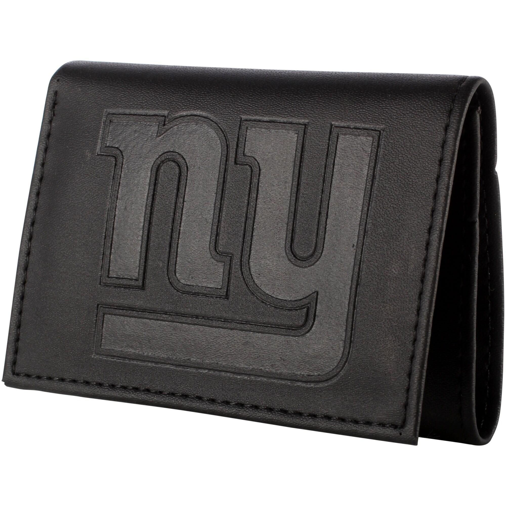New York Giants Hybrid Tri-Fold Wallet - Black