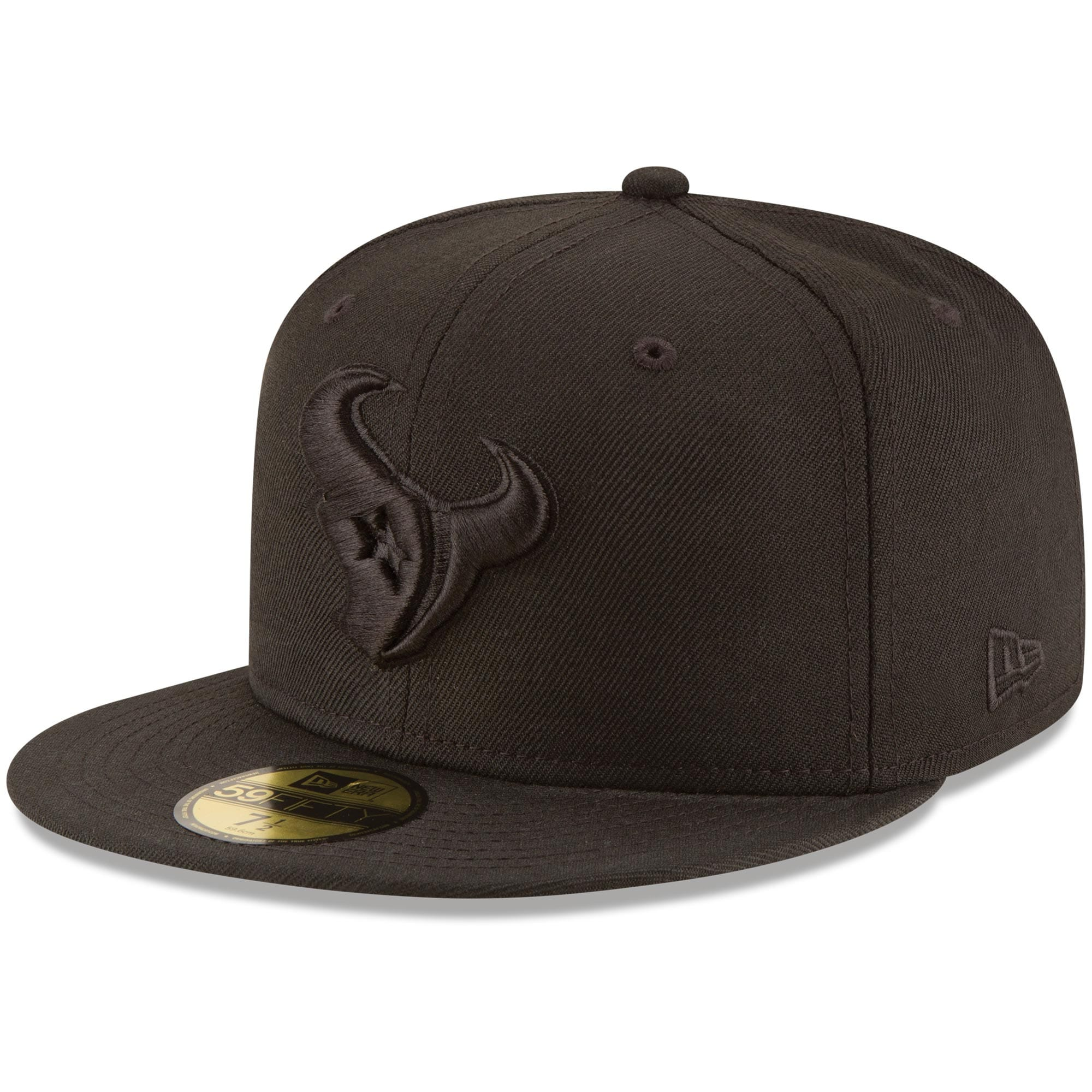 Houston Texans New Era Black on Black 59FIFTY Fitted Hat