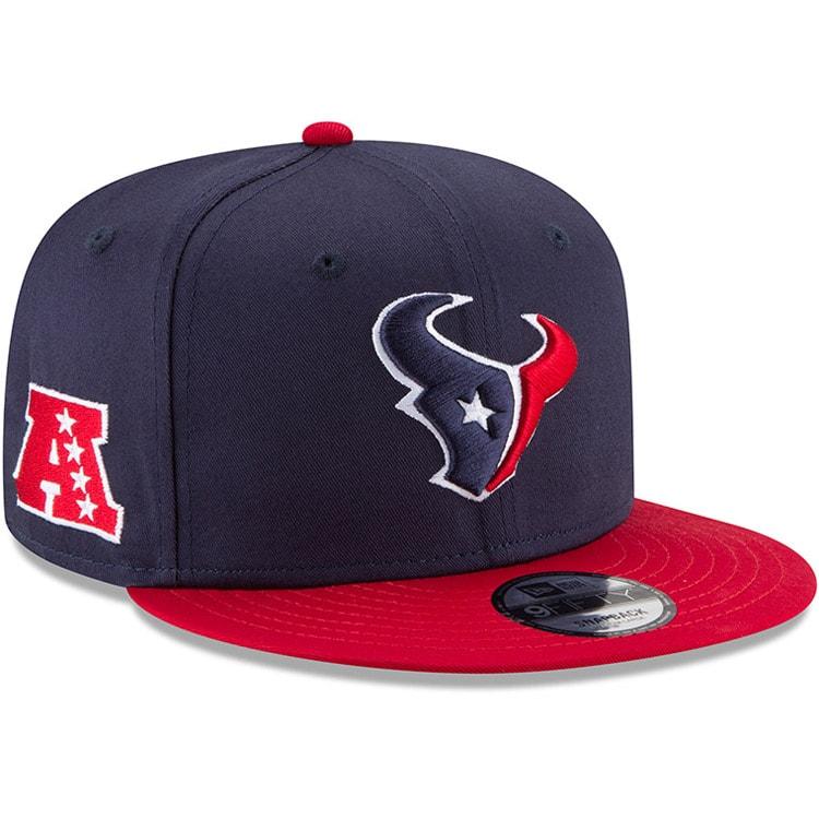 Houston Texans New Era Youth Baycik 9FIFTY Snapback Adjustable Hat - Navy/Red