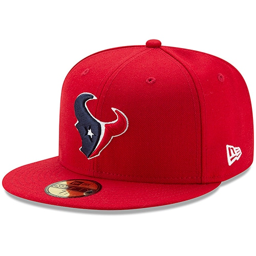 Houston Texans New Era Omaha 59FIFTY Fitted Hat - Red