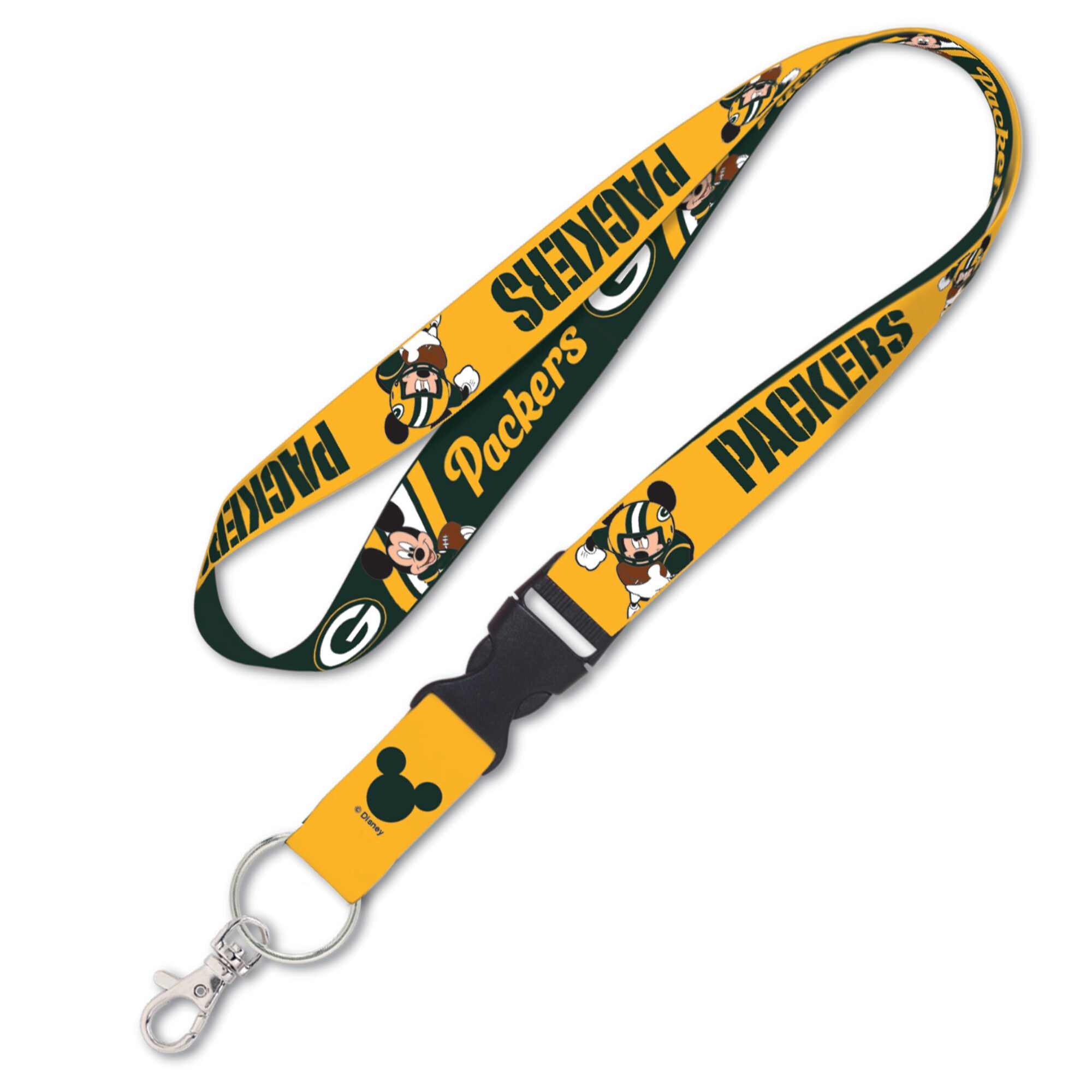 Green Bay Packers WinCraft Disney Lanyard With Detachable Buckle