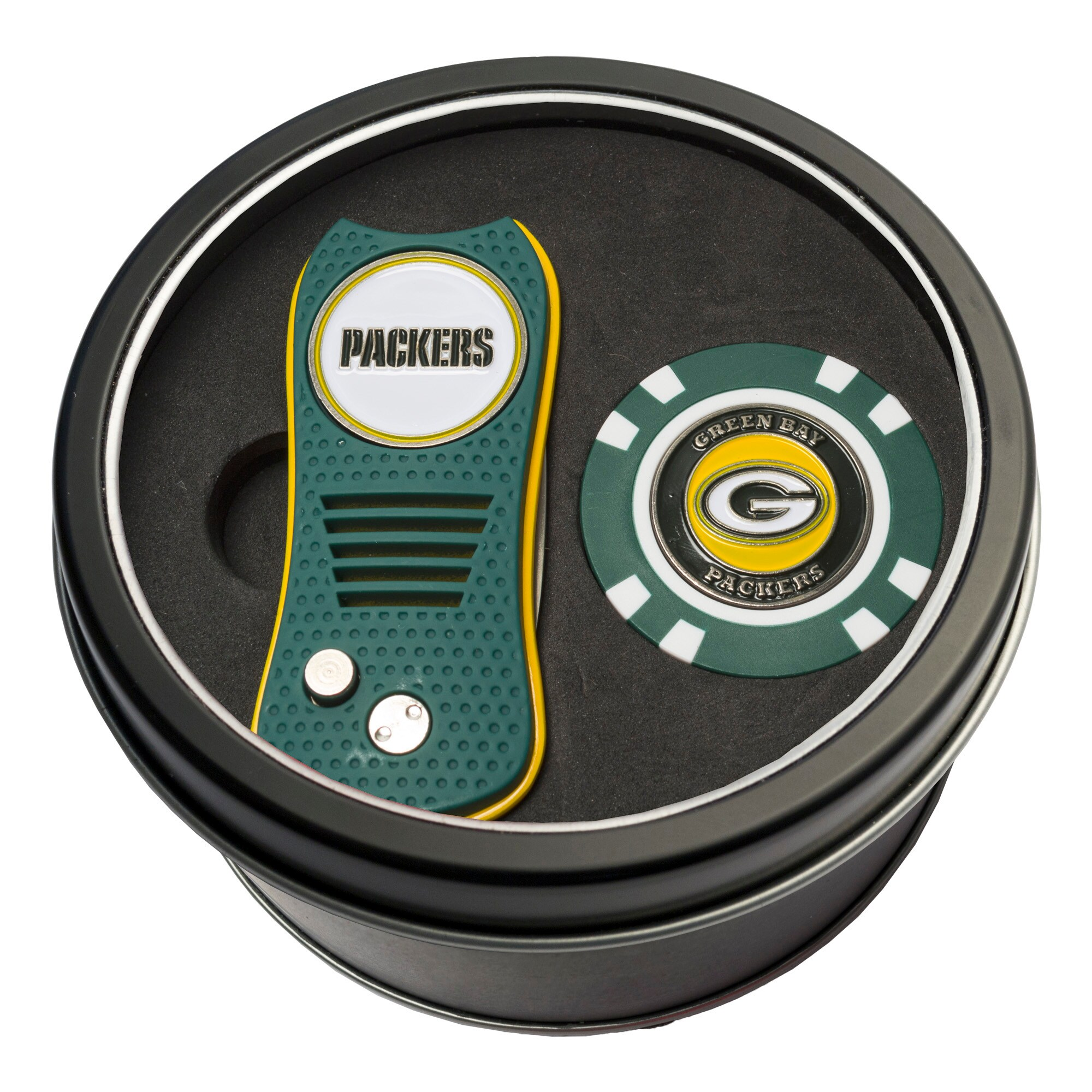 Green Bay Packers Switch Chip Golf Tin Set