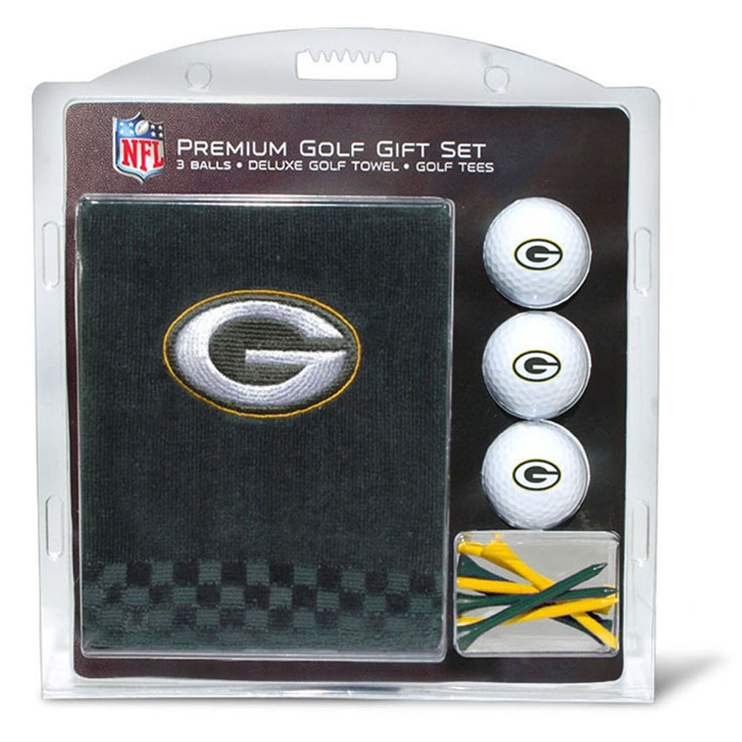 Green Bay Packers Embroidered Golf Gift Set