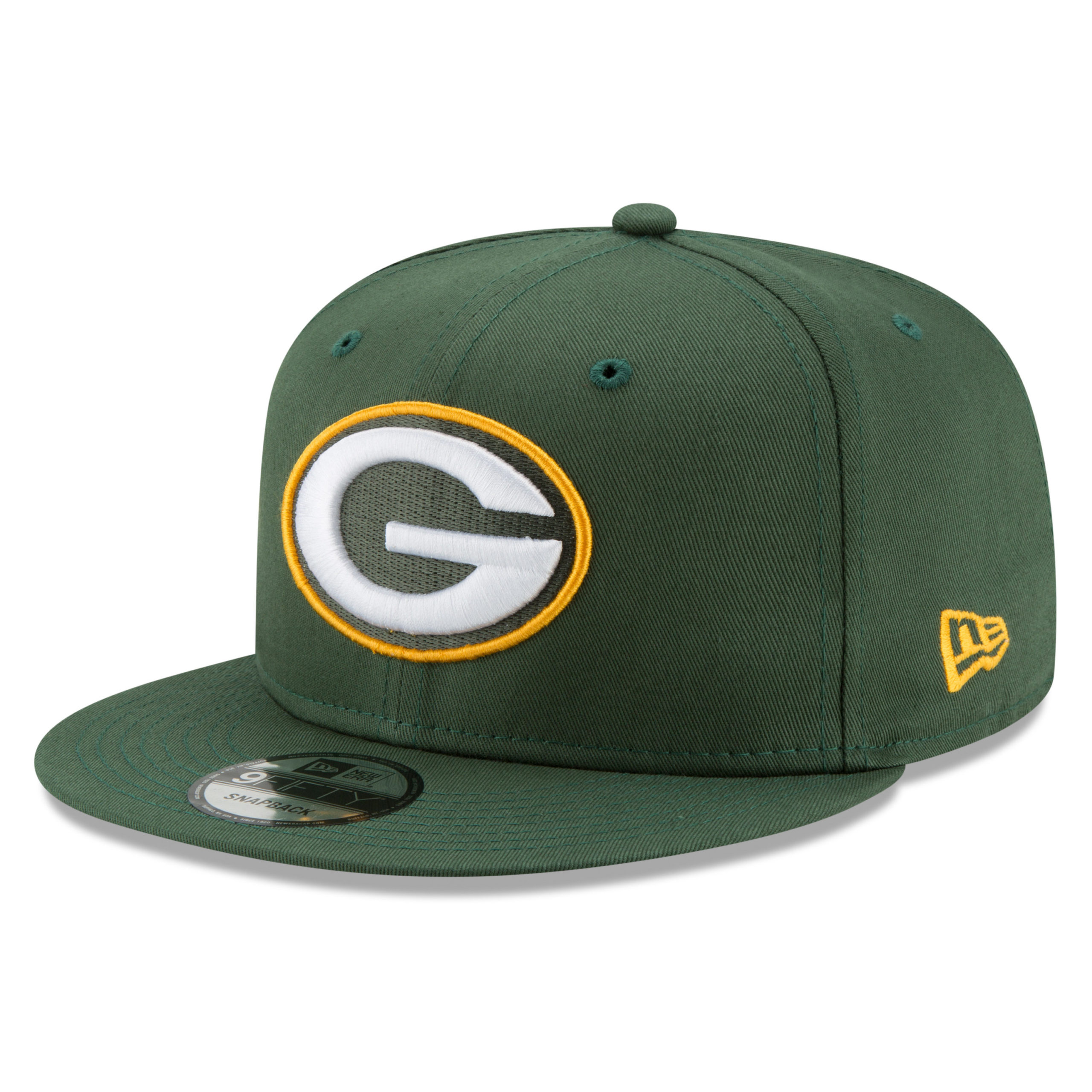 Green Bay Packers New Era Basic 9FIFTY Adjustable Snapback Hat - Green