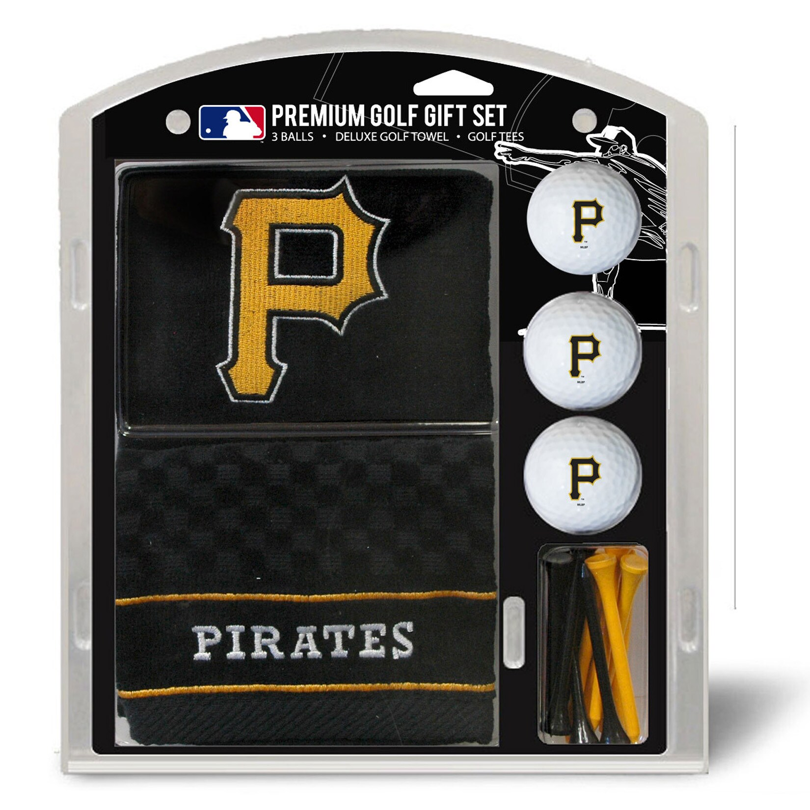 Pittsburgh Pirates Embroidered Golf Gift Set