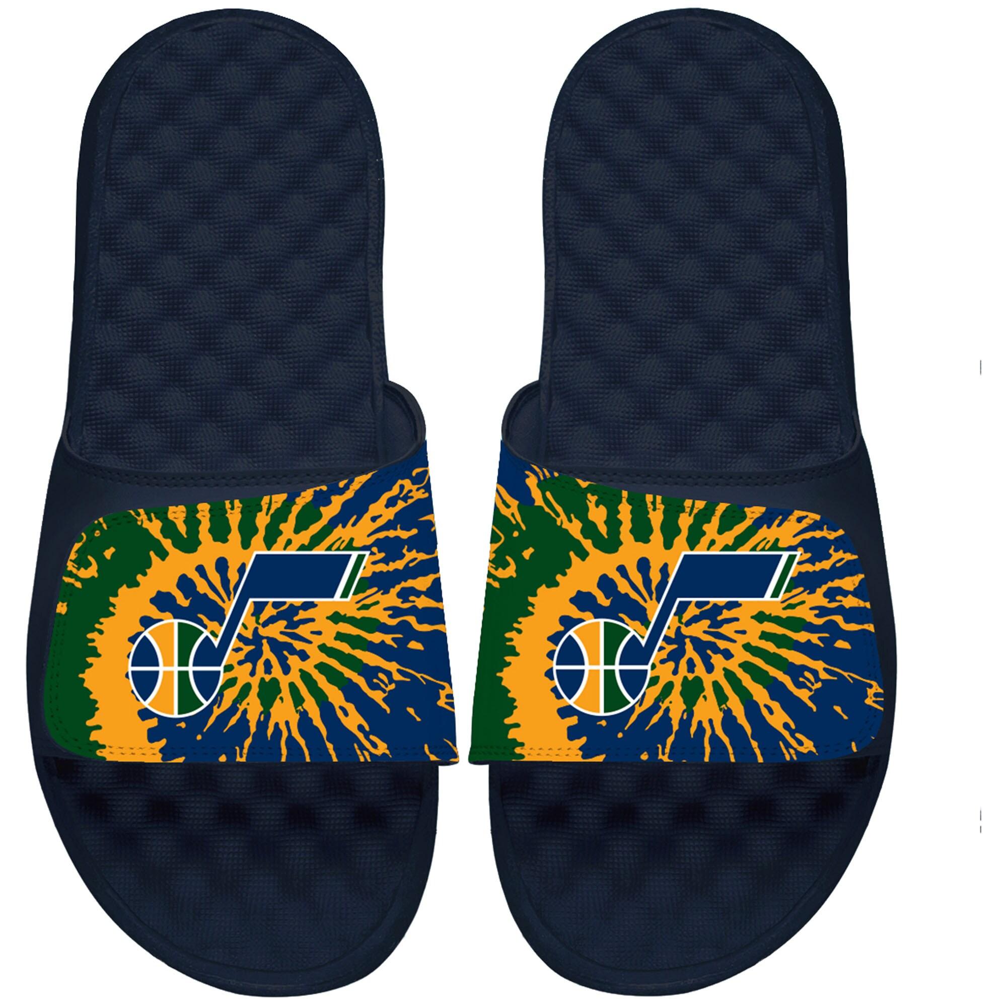 Utah Jazz ISlide Tie Dye Slide Sandals - Navy