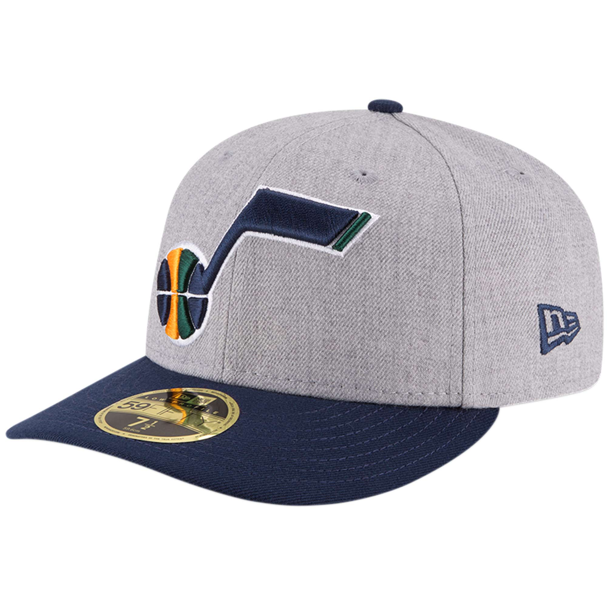 Utah Jazz New Era Two-Tone Low Profile 59FIFTY Fitted Hat - Heathered Gray/Navy