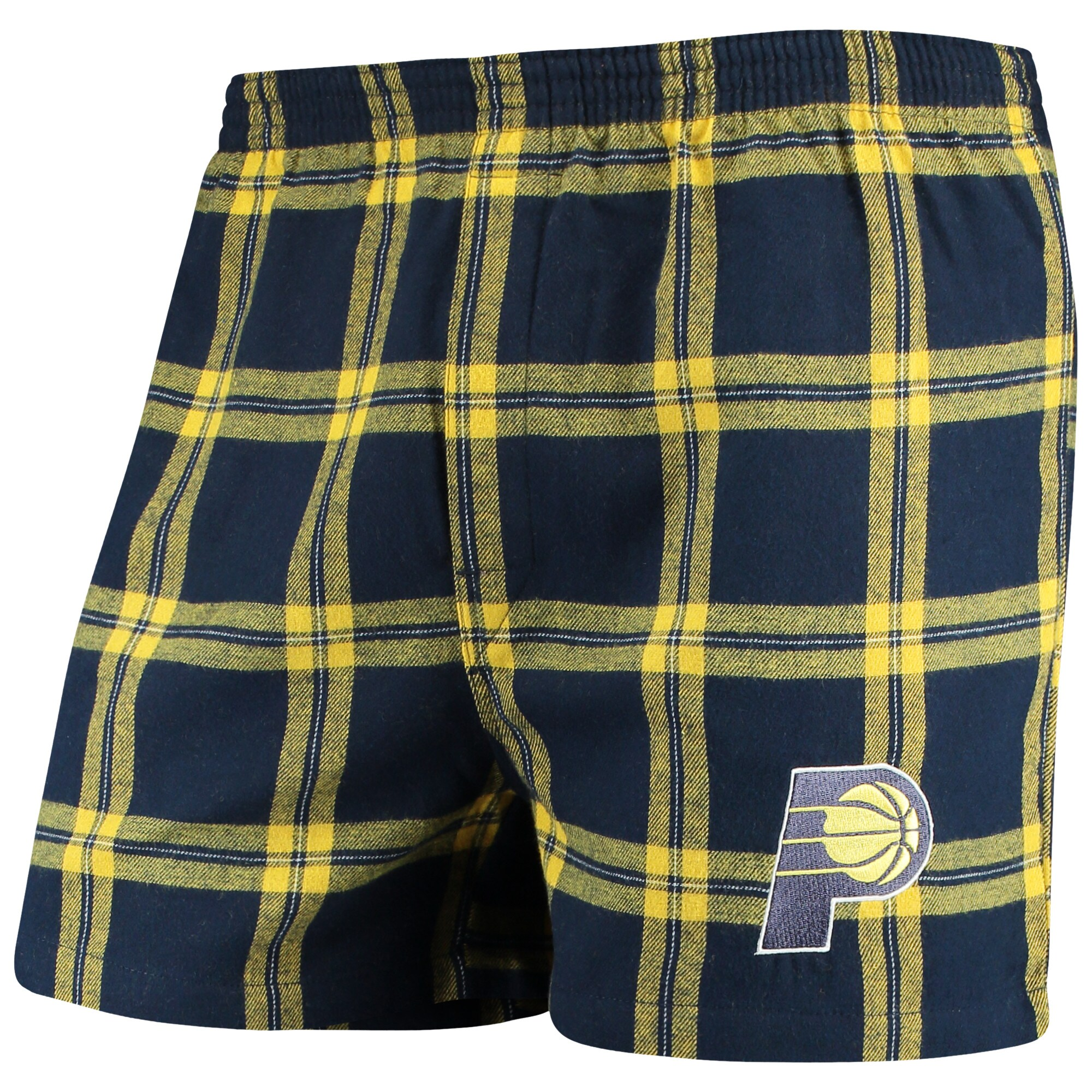 Indiana Pacers Concepts Sport Homestretch Flannel Boxer Shorts - Navy