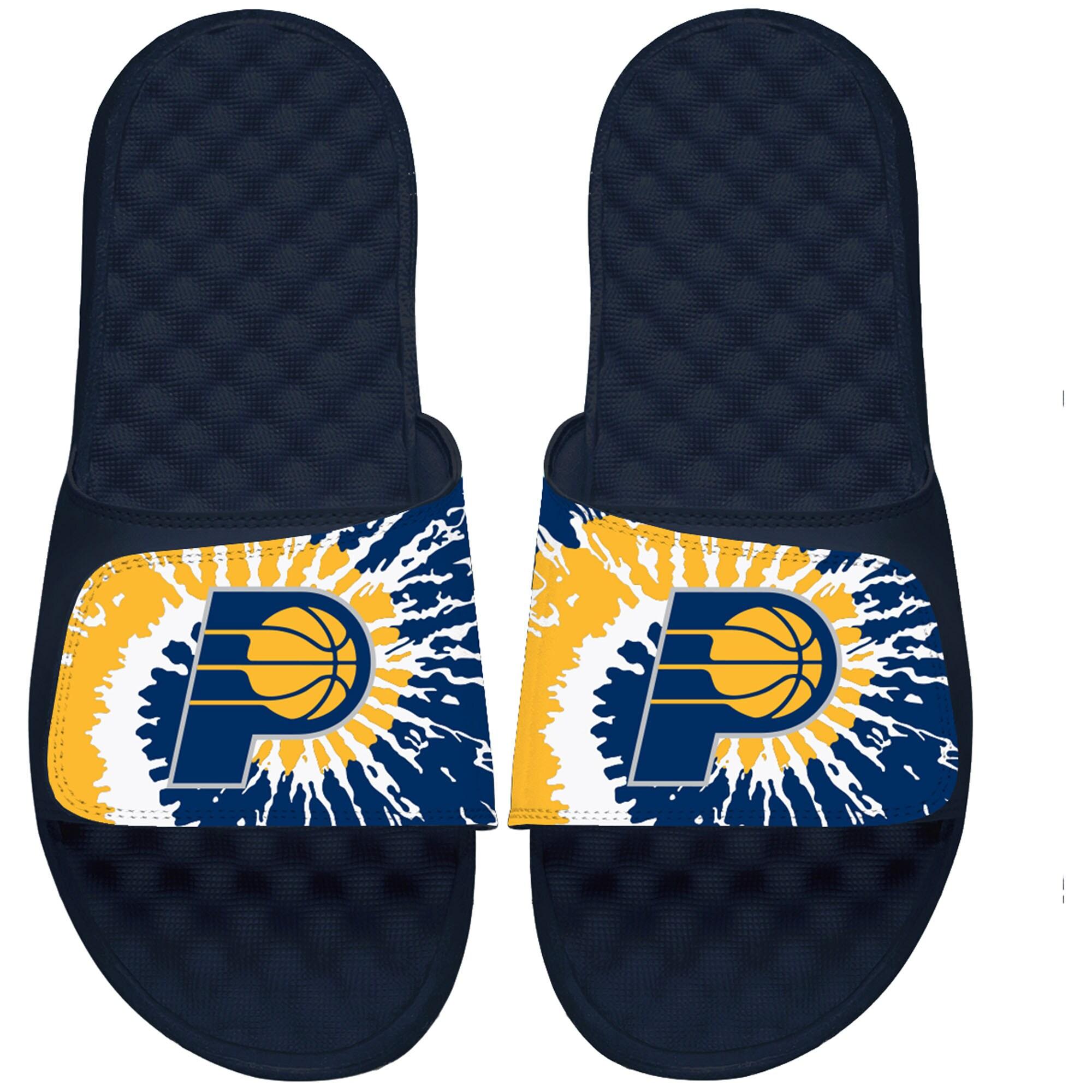Indiana Pacers ISlide Tie Dye Slide Sandals - Navy