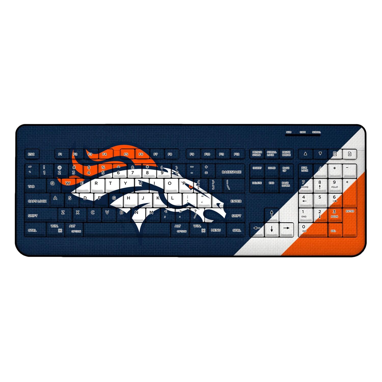 Denver Broncos Diagonal Stripe Wireless Keyboard