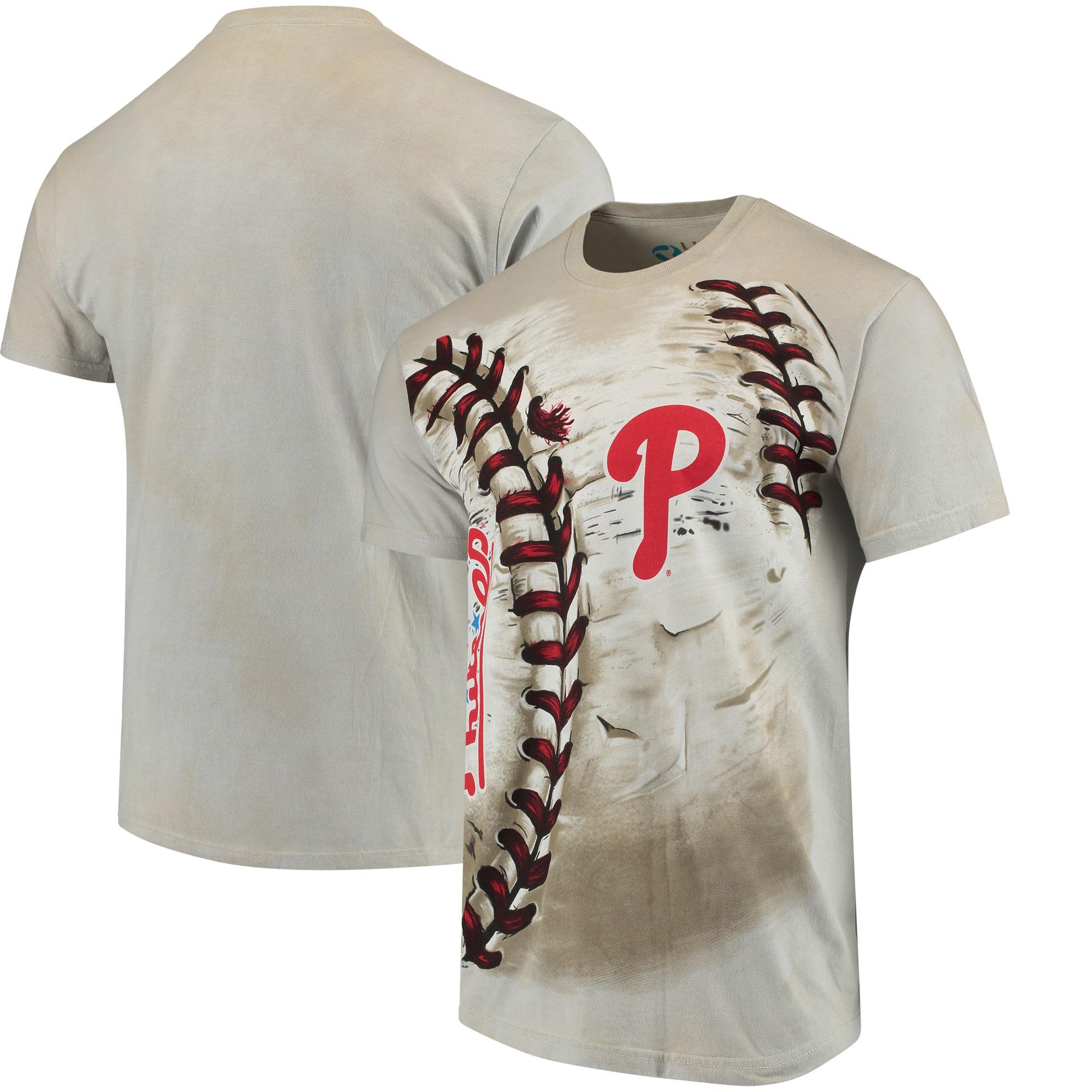 Philadelphia Phillies Hardball Tie-Dye T- Shirt - Cream