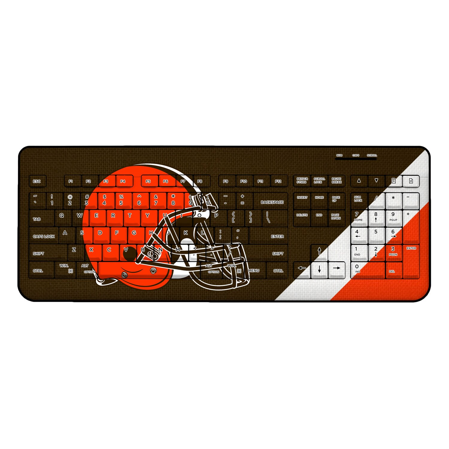 Cleveland Browns Diagonal Stripe Wireless Keyboard
