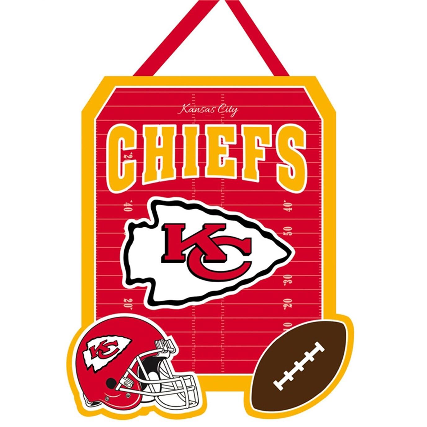 """Kansas City Chiefs 20.5"""" x 16"""" Door Decor Wall Banner"""