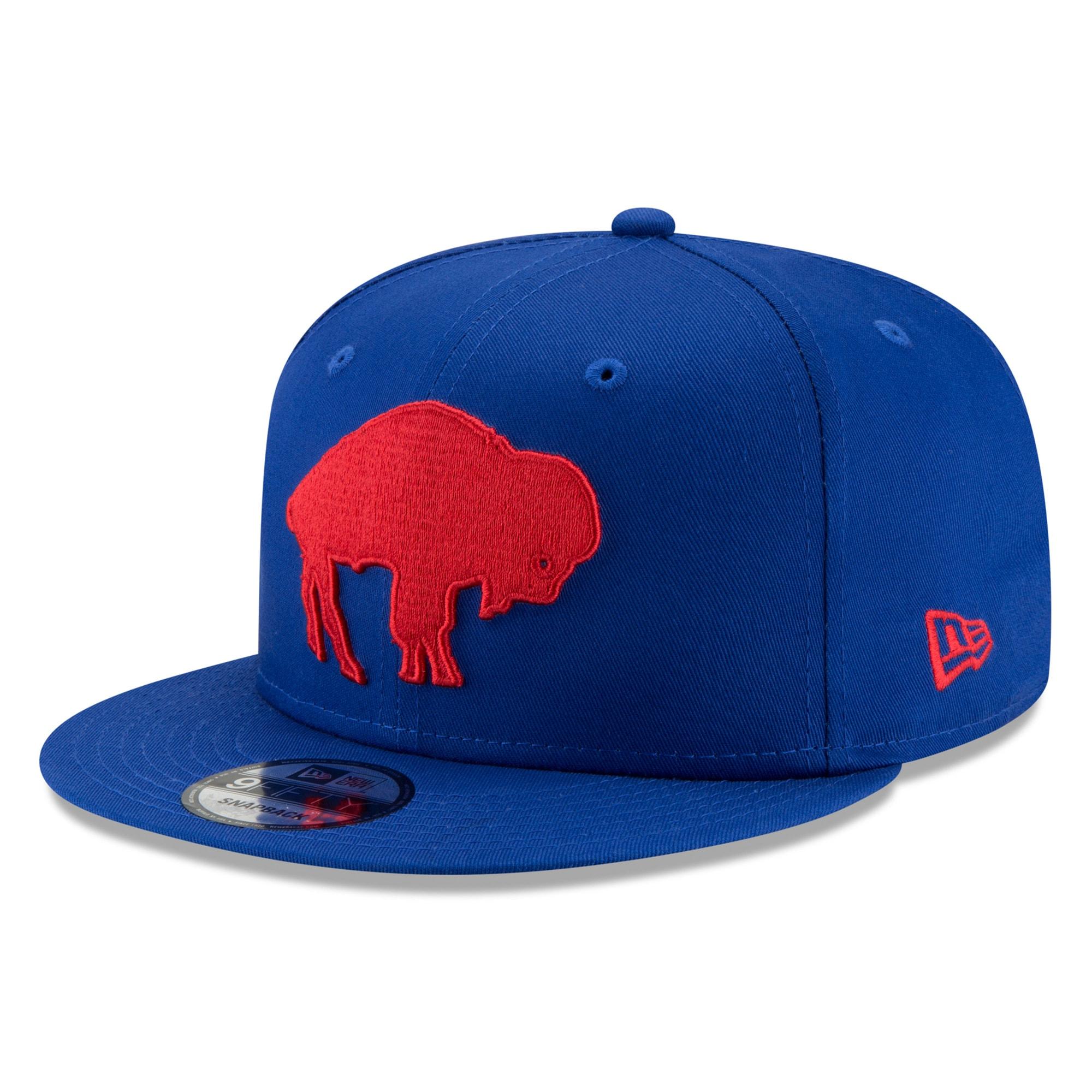 Buffalo Bills New Era Throwback 9FIFTY Adjustable Snapback Hat - Royal