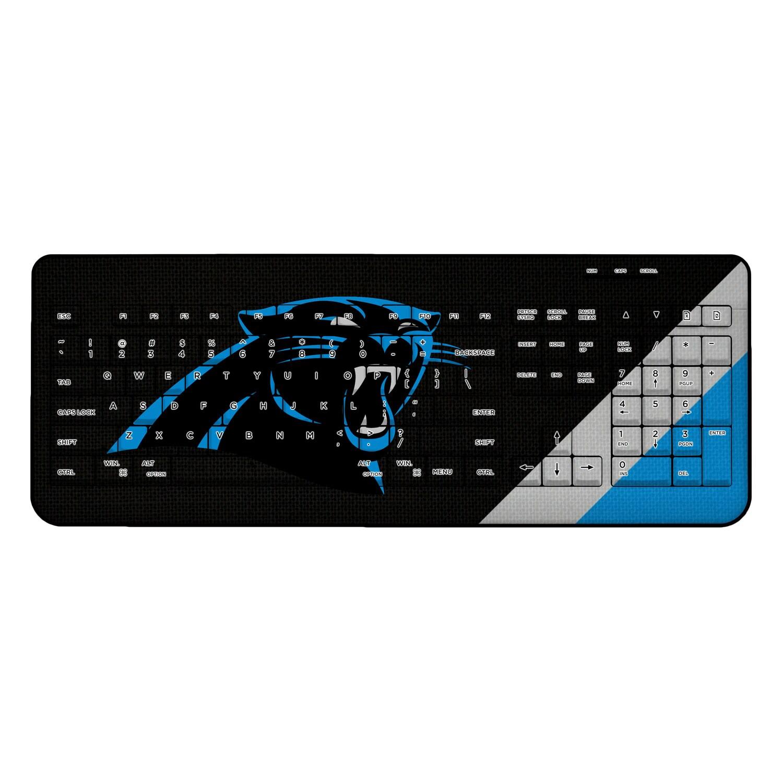 Carolina Panthers Diagonal Stripe Wireless Keyboard