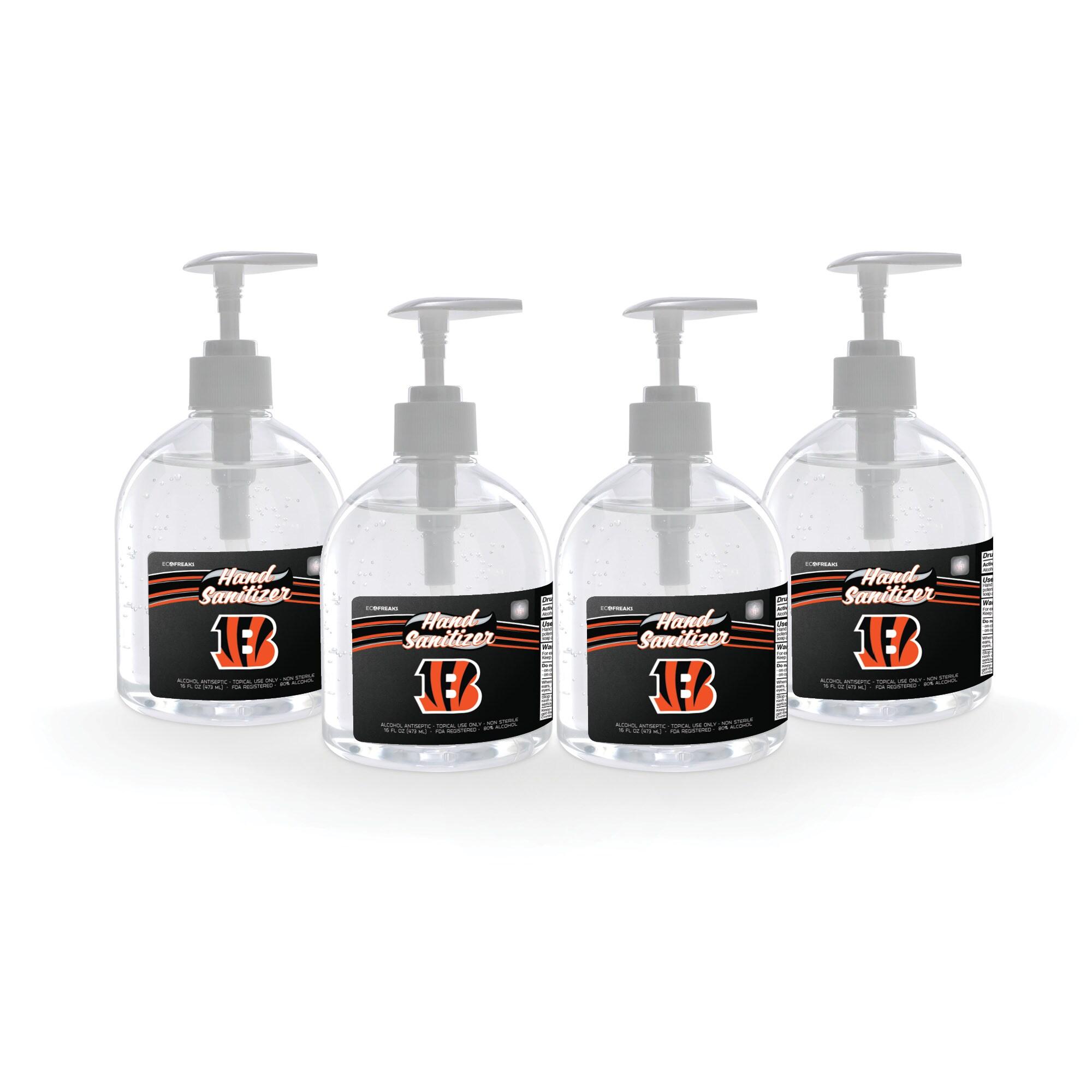 Cincinnati Bengals 16oz. Hand Sanitizer 4-Pack