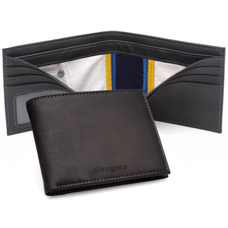 Los Angeles Chargers Tokens & Icons Game-Used Uniform Leather Wallet