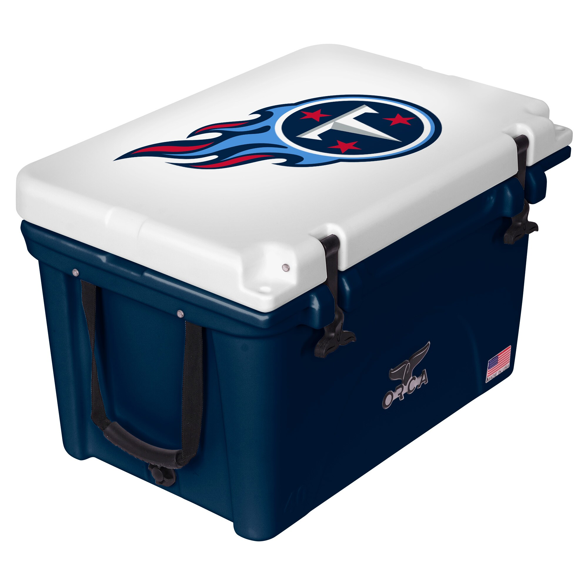 Tennessee Titans ORCA 40-Quart Hard-Sided Cooler - Navy/White