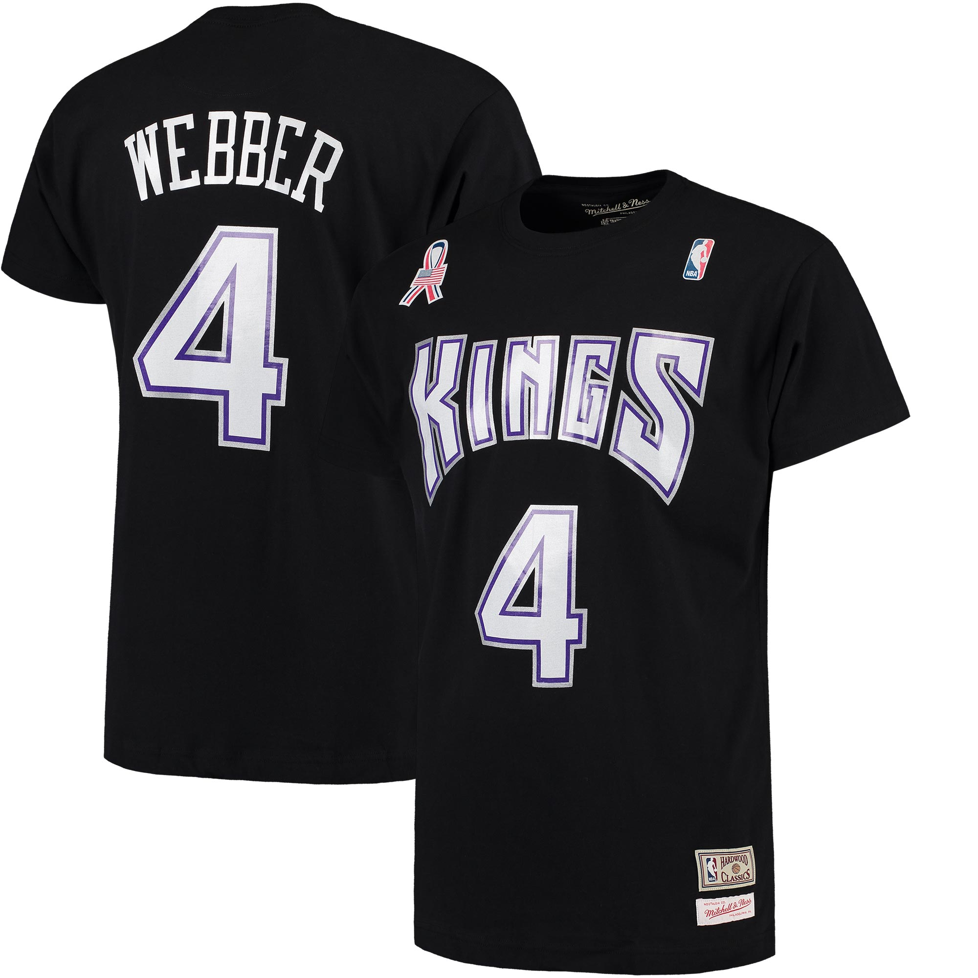 Chris Webber Sacramento Kings Mitchell & Ness Name and Number T-Shirt - Black