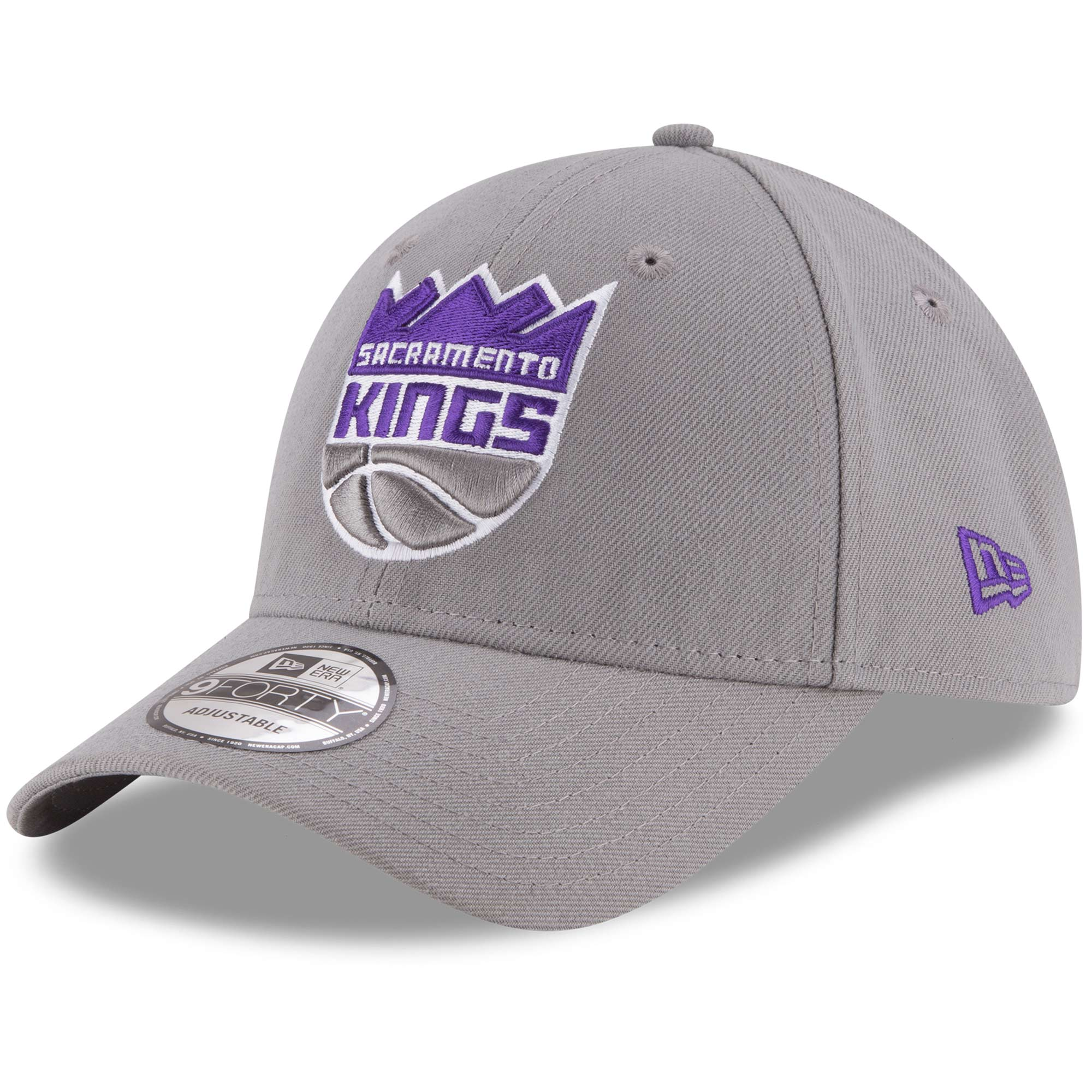 Sacramento Kings New Era Official Team Color 9FORTY Adjustable Hat - Gray