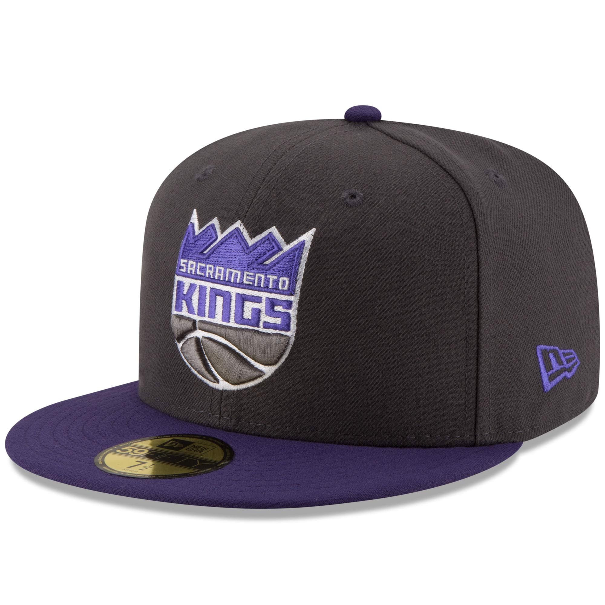 Sacramento Kings New Era Official Team Color 2Tone 59FIFTY Fitted Hat - Gray/Purple