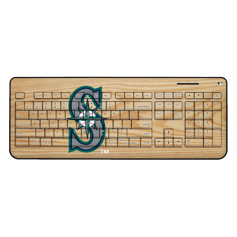 Seattle Mariners Wood Print Wireless USB Keyboard