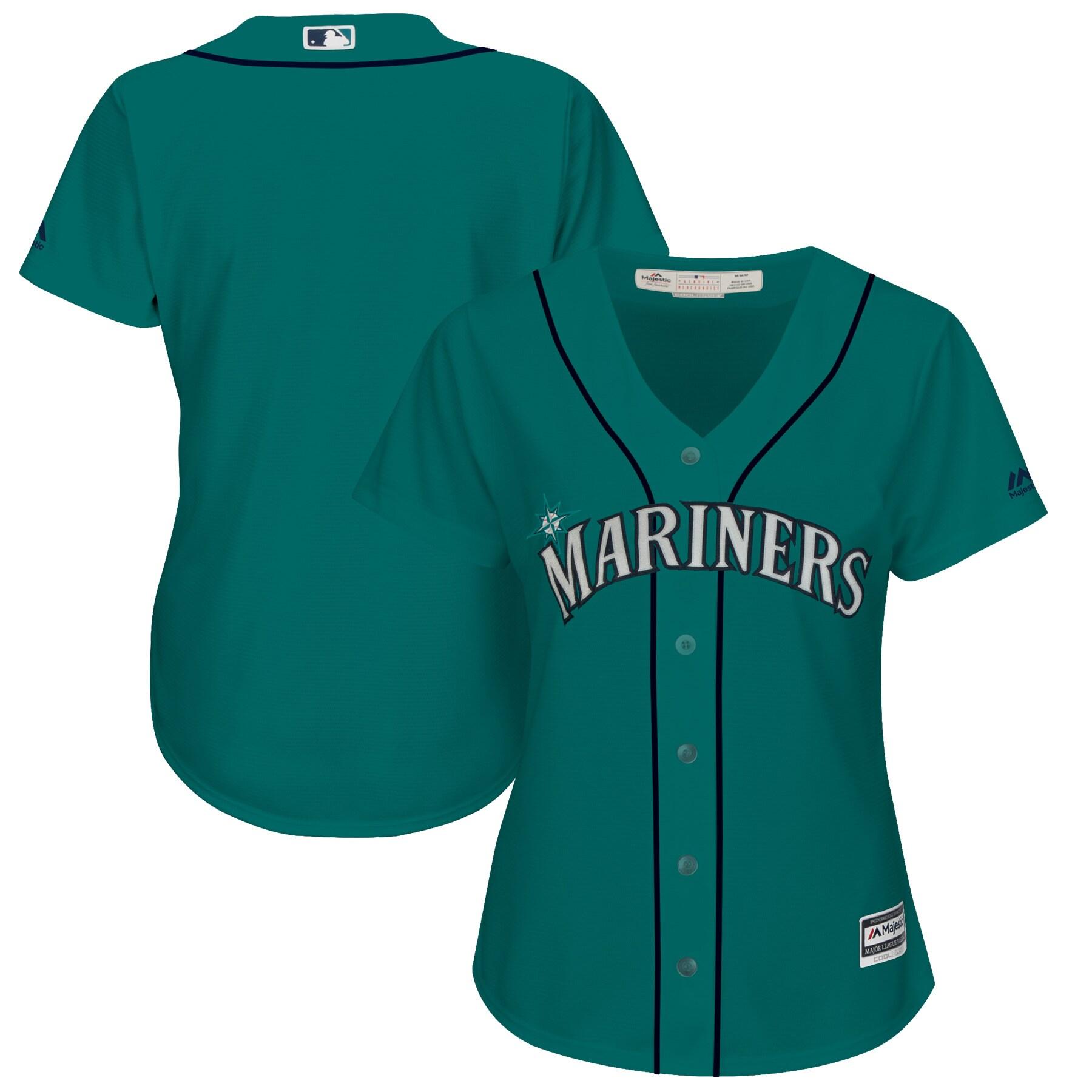 Seattle Mariners Majestic Women's Alternate Plus Size Cool Base Team Jersey - Aqua